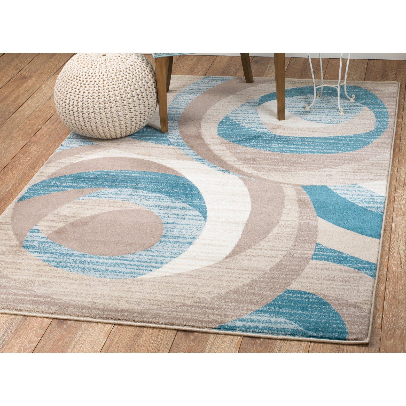 Rug and decor inc summit turquoise area rug reviews for Turquoise area rug