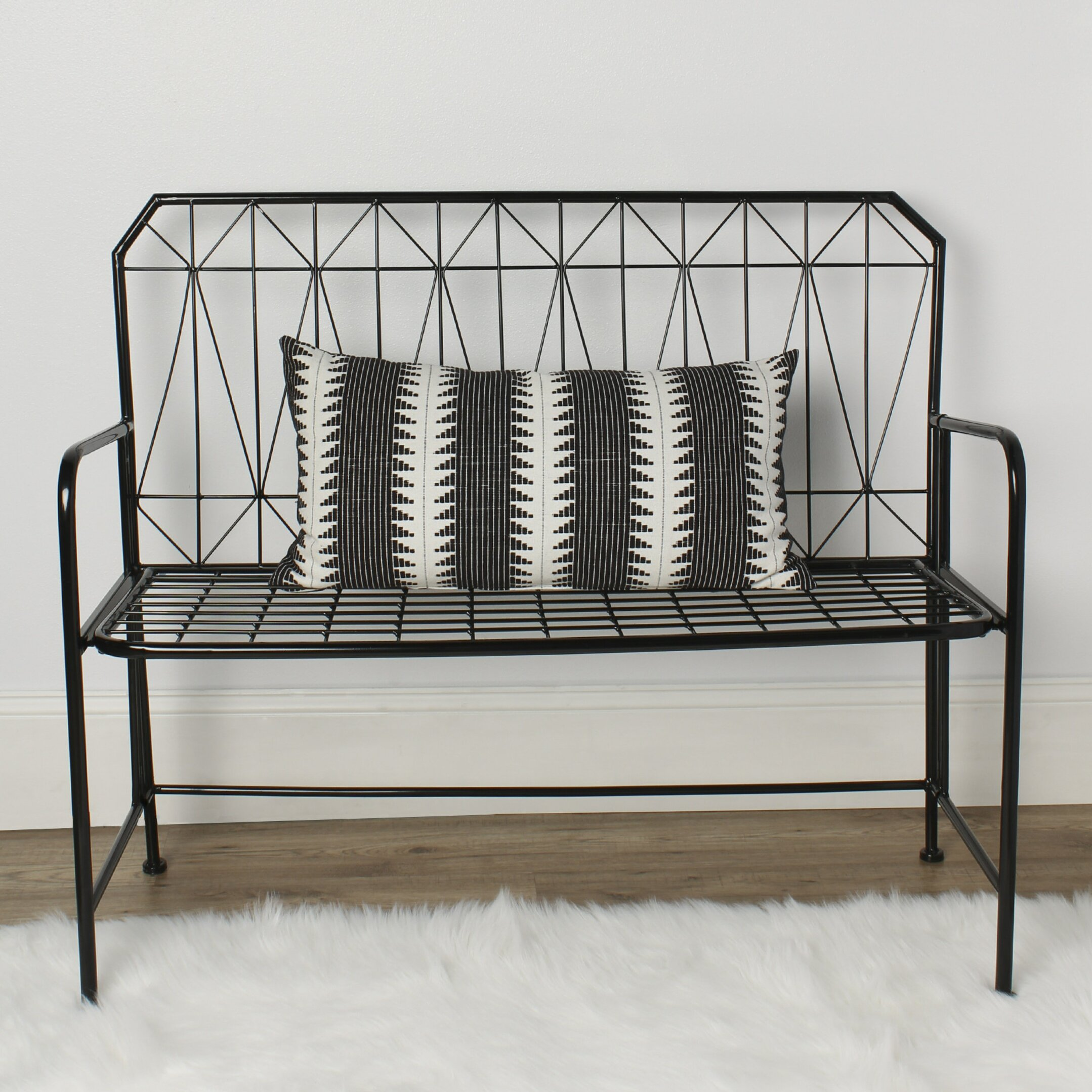 Metal Foyer Bench : Kate and laurel thrapston metal entryway bench wayfair