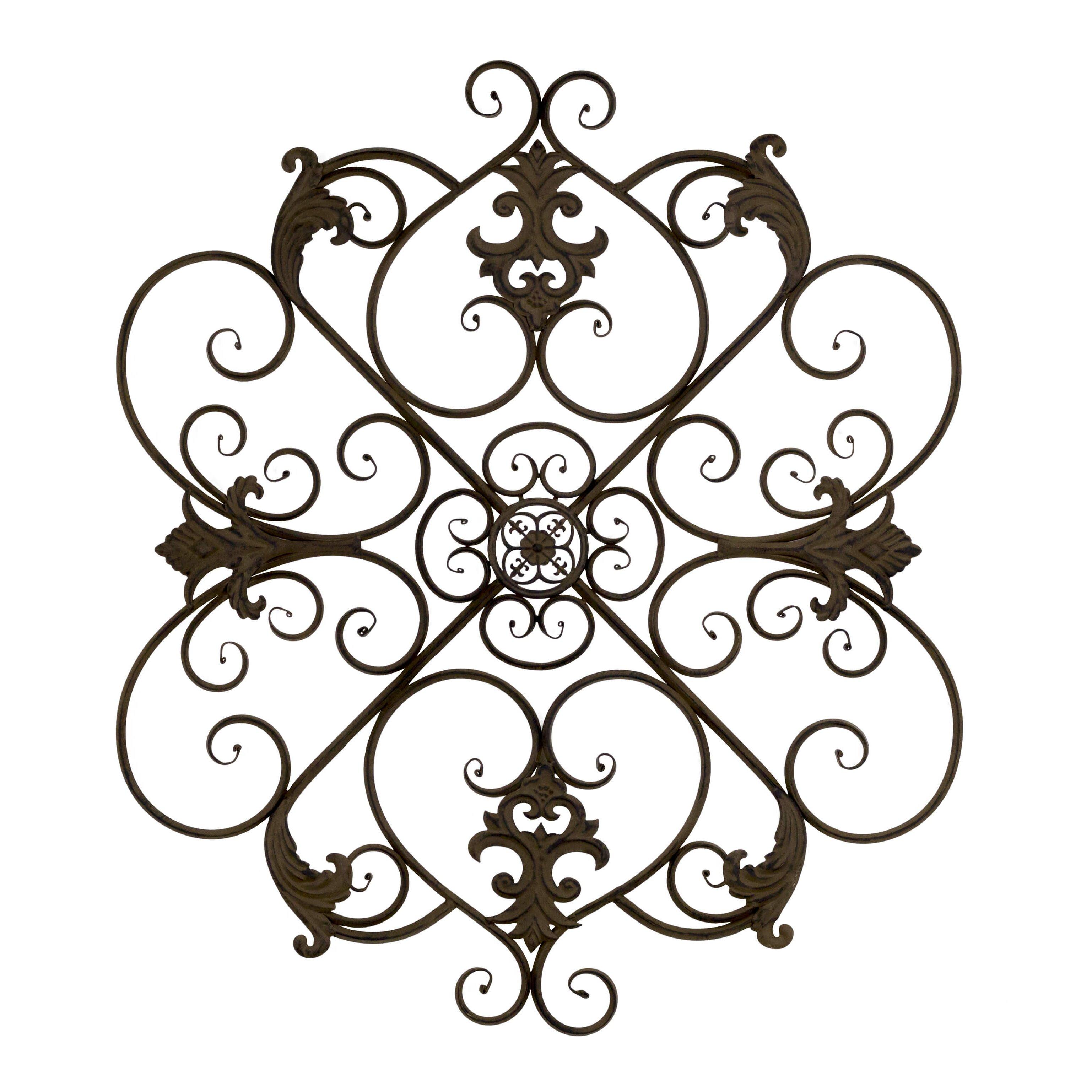 Bayaccents Wrought Iron Fleur De Lis Wall Decor Reviews
