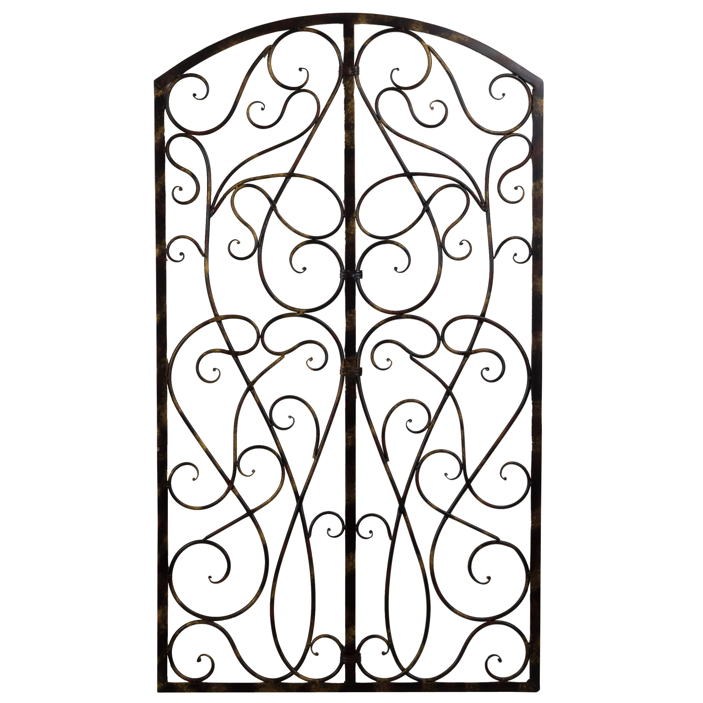 Bayaccents Wrought Iron Scroll Panel Wall D Cor Wayfair