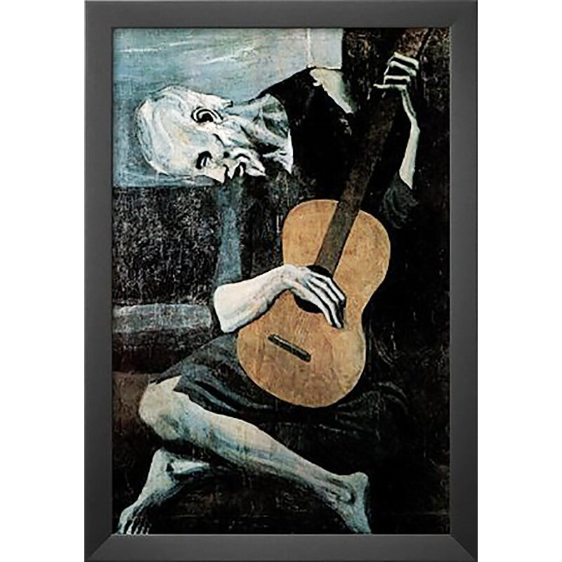 Buy Art For Less 'Old Guitarist' By Pablo Picasso Framed