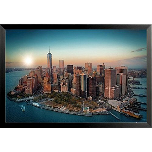 Buy Art For Less Aerial View Of Downtown New York City And