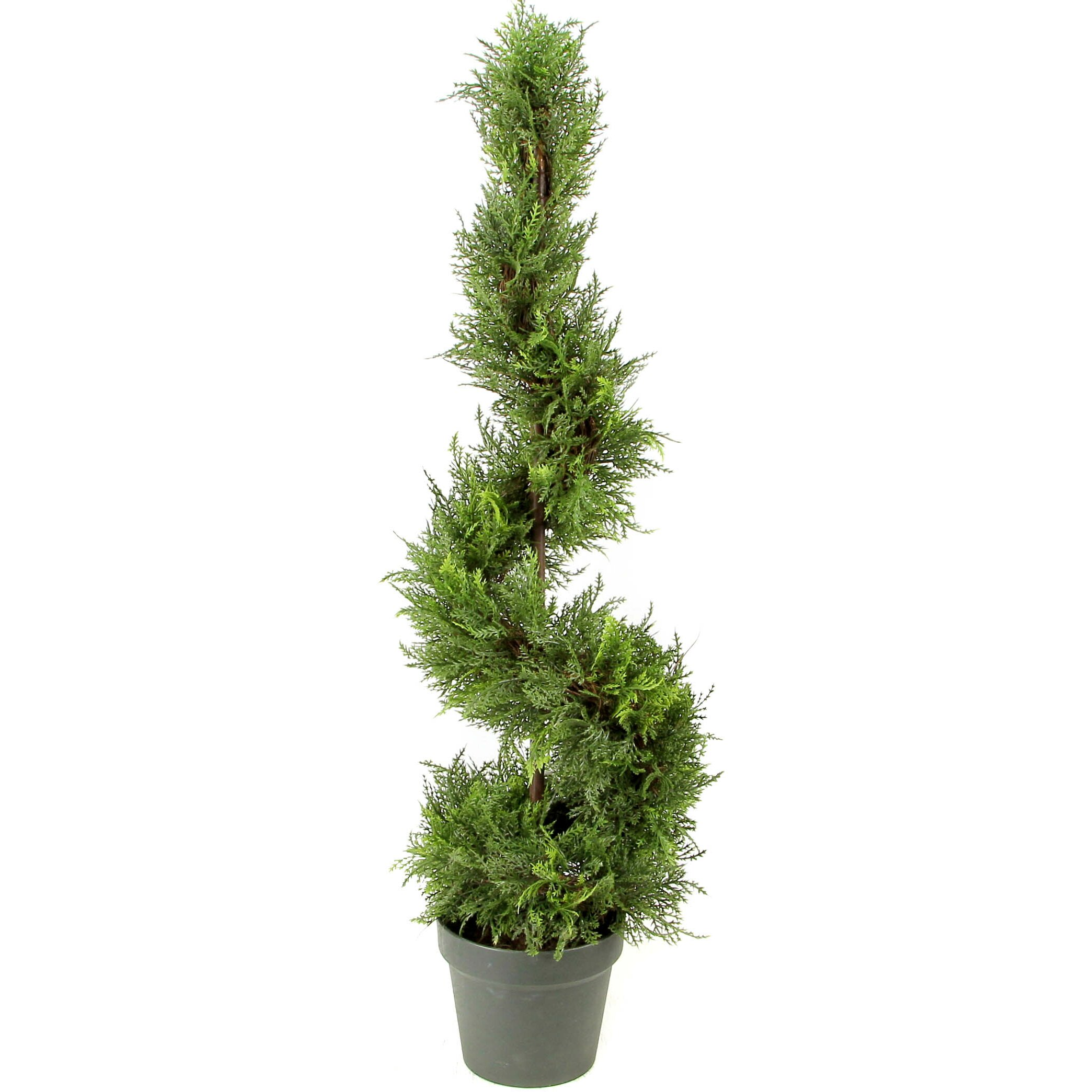 Topiary Spiral Trees: AdmiredbyNature Artificial Cypress Leaf Spiral Topiary