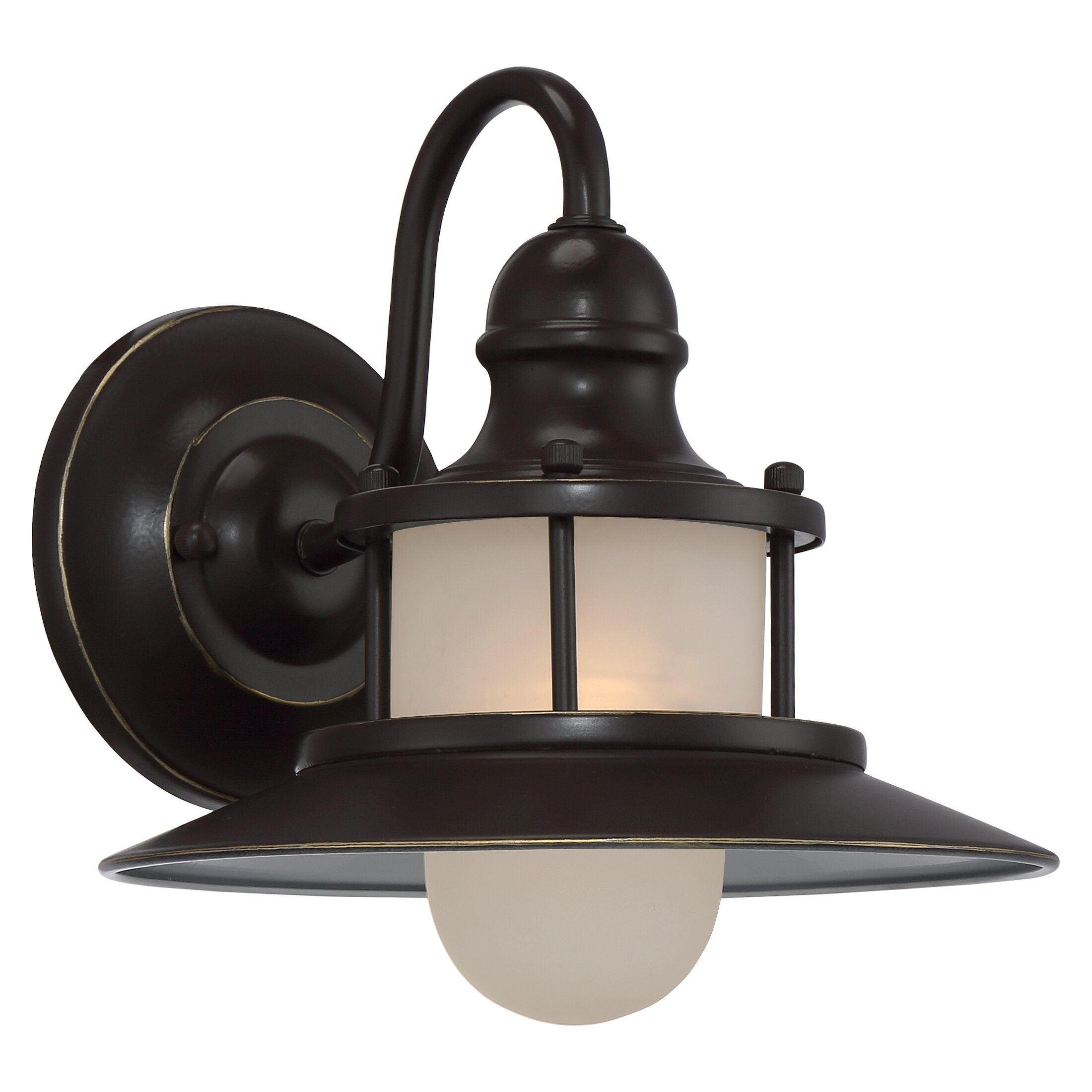 Goodyear 1 Light Outdoor Barn Light: Breakwater Bay Commodore 1 Light Outdoor Barn Light