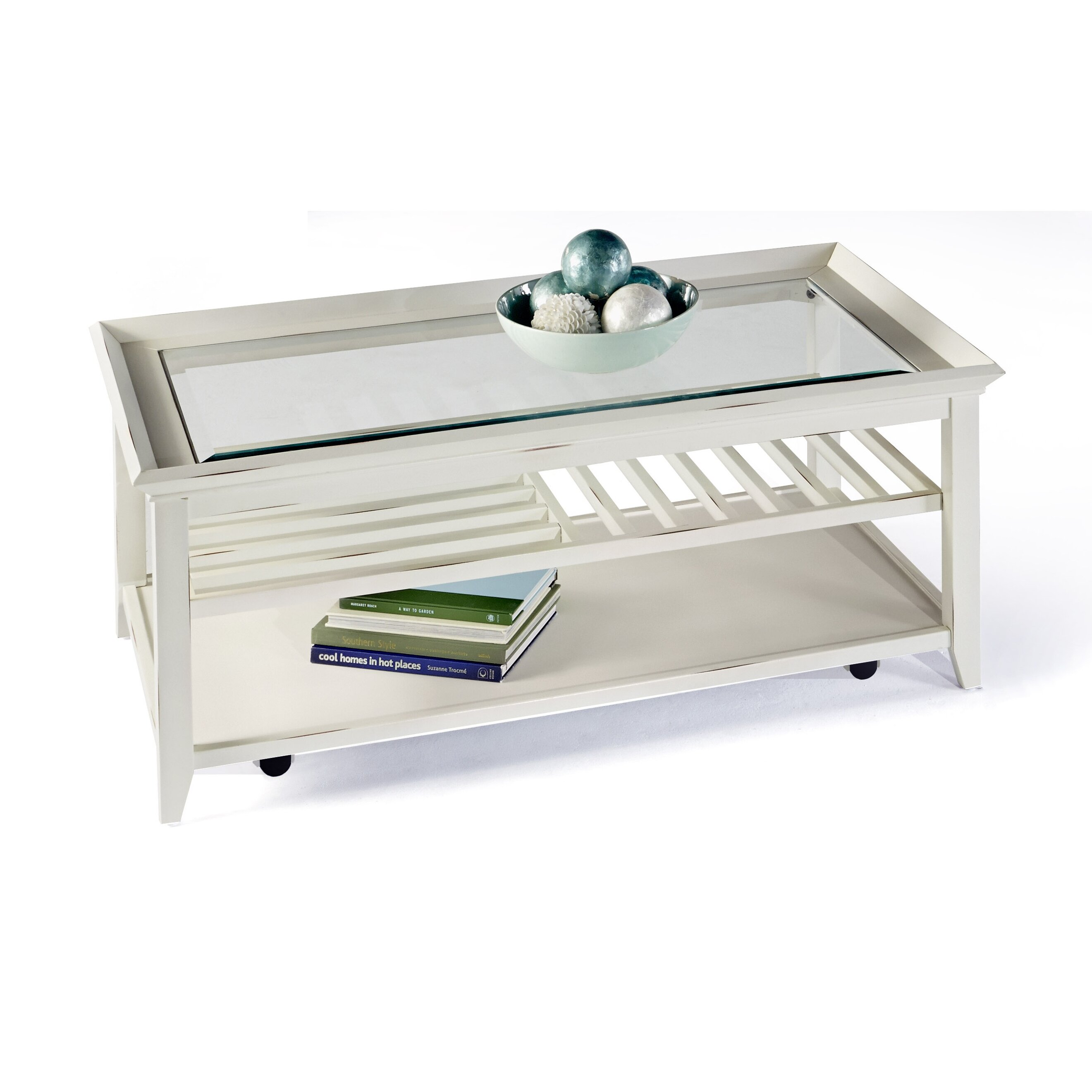 Breakwater Bay Maidstone Coffee Table With Tray Top Reviews Wayfair