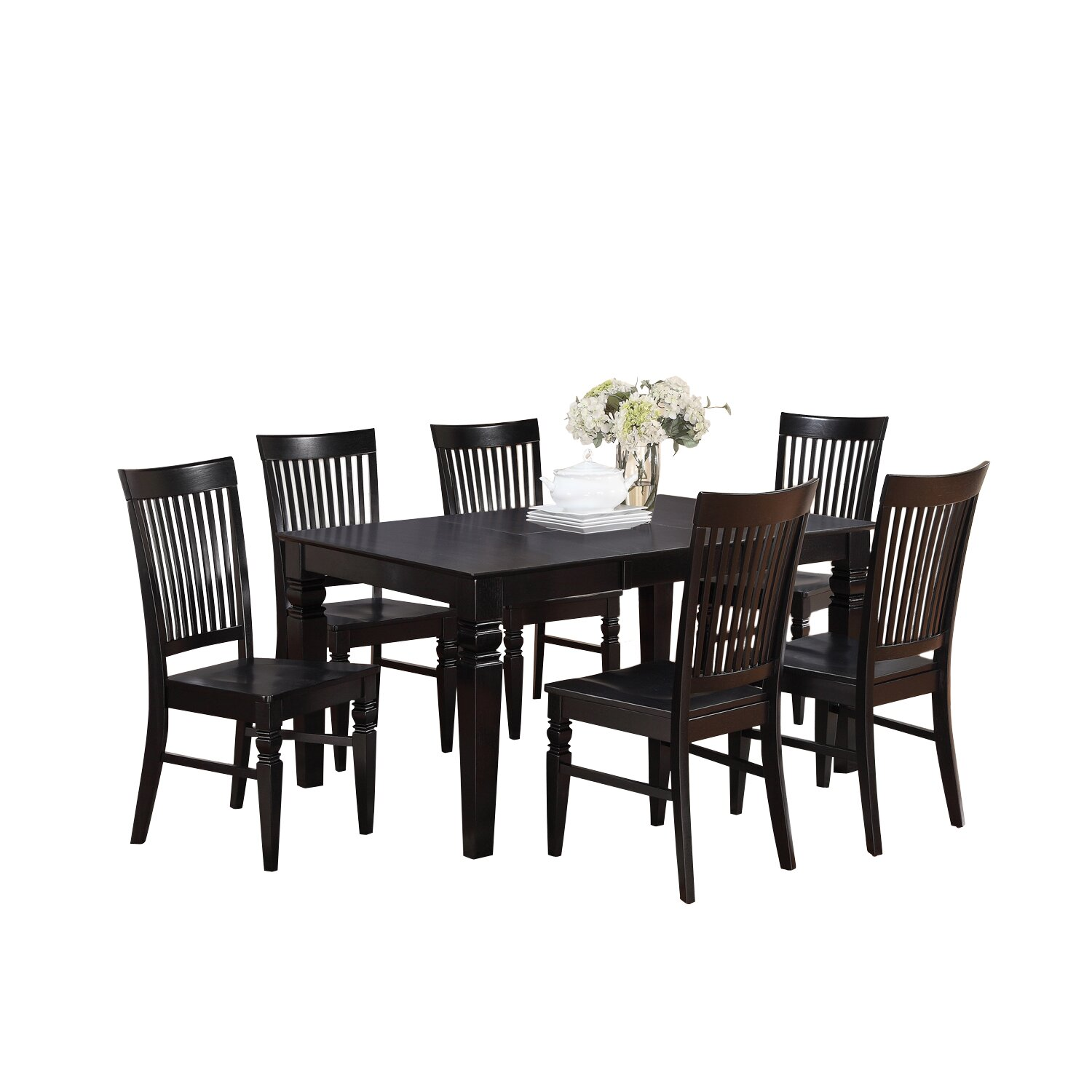 breakwater bay piermont 7 piece dining set amp reviews wayfair