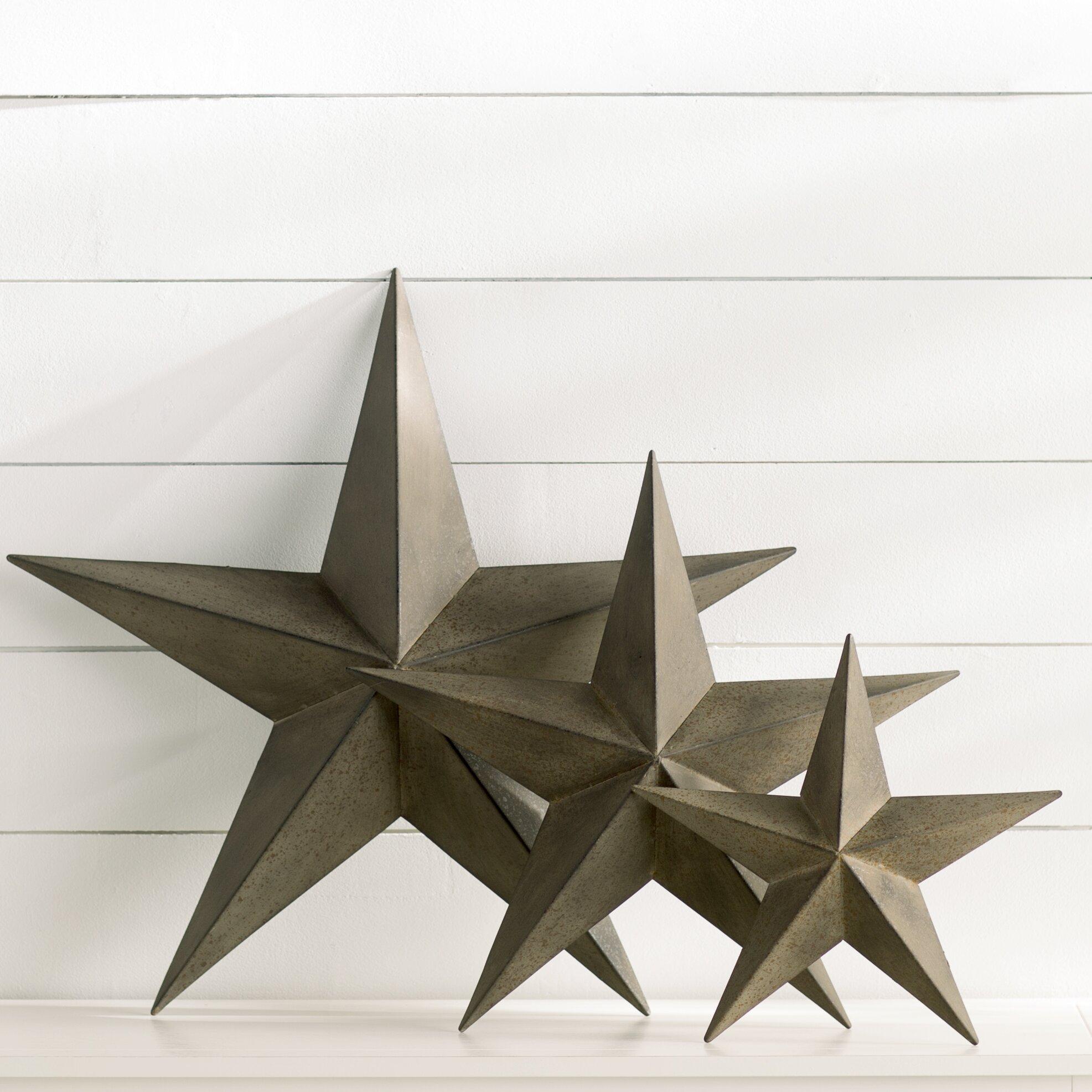 Glass Star Wall Decor : Breakwater bay piece wall d?cor set reviews wayfair