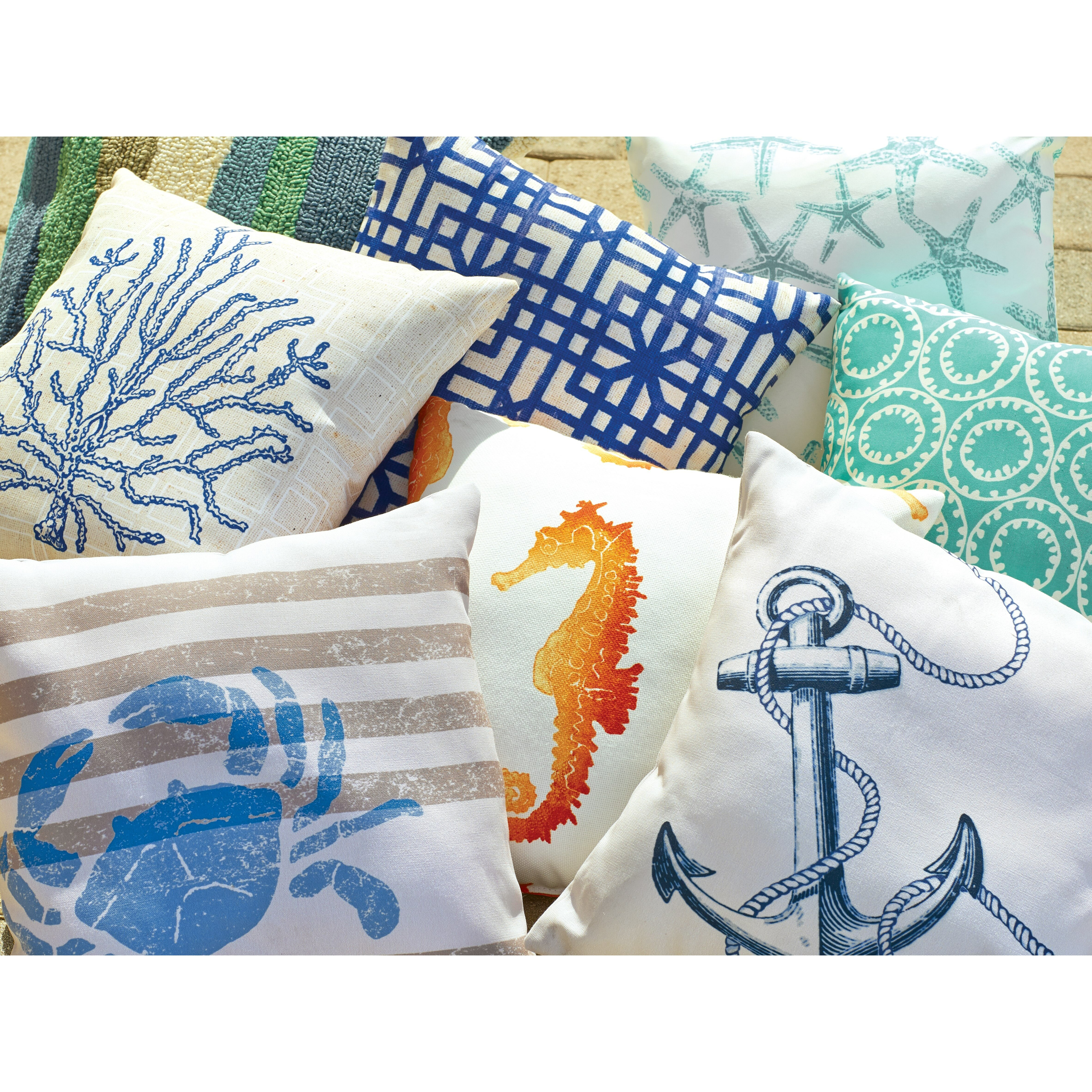 Throw Pillows The Bay : Breakwater Bay Barleycove Anchor Outdoor Throw Pillow & Reviews Wayfair