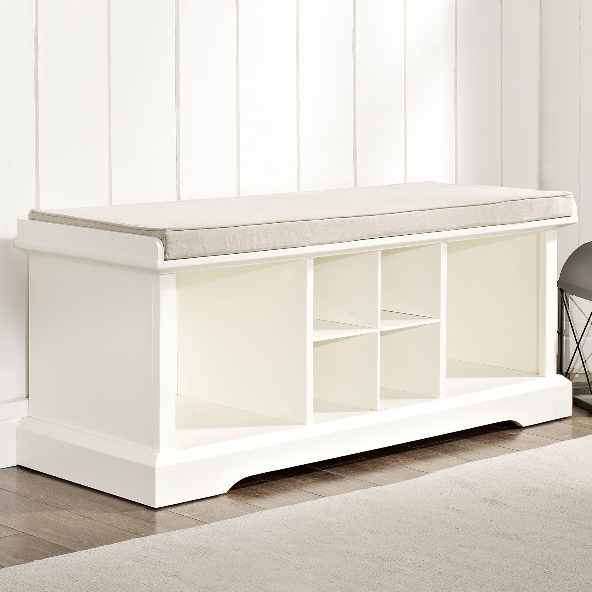 entryway benches with storage organizing | Breakwater Bay Selbyville Storage Entryway Bench & Reviews ...