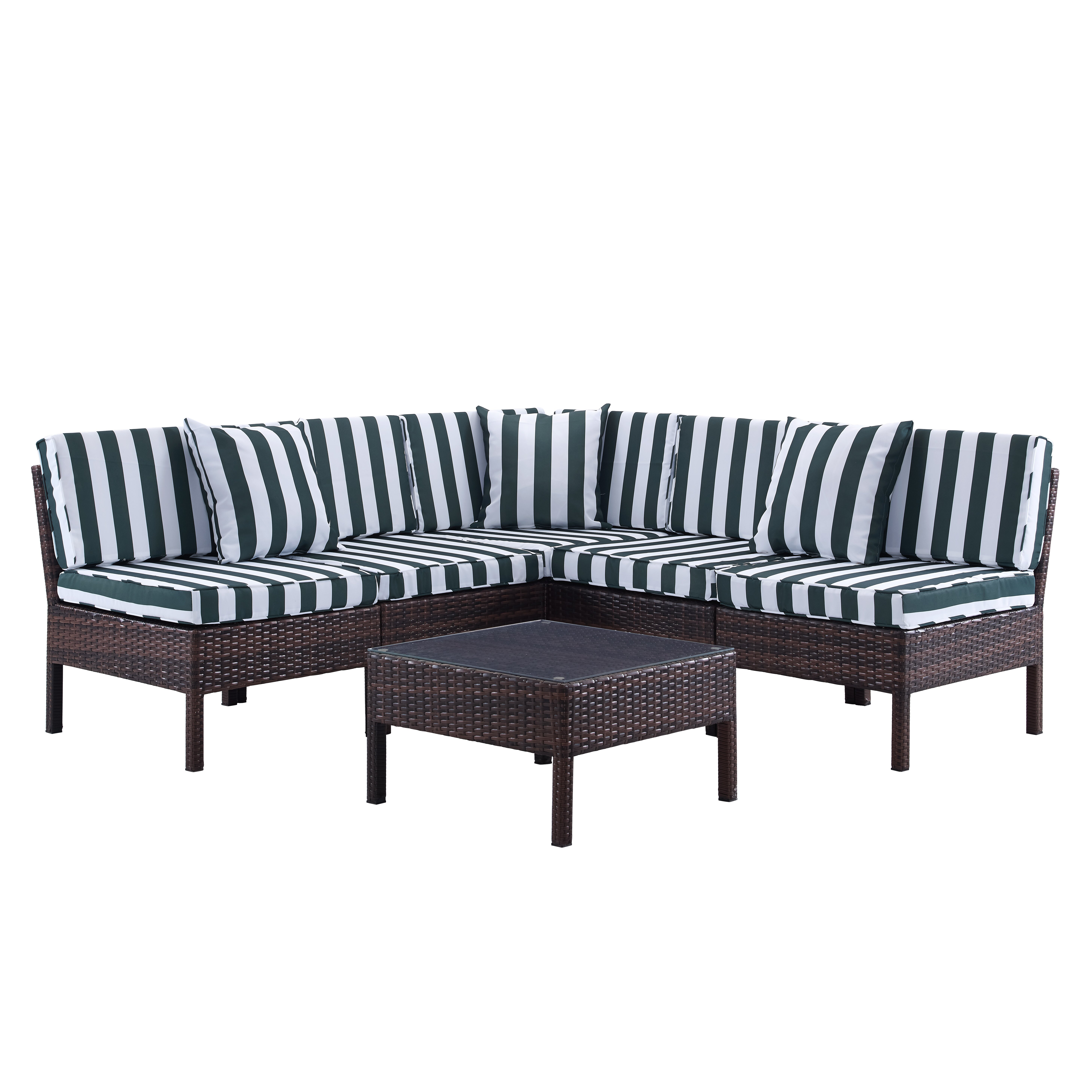 Breakwater Bay Monticello 6 Piece Sectional Seating Group  : Naples2B62BPiece2BDeep2BSeating2BGroup2Bwith2BCushion from www.wayfair.com size 5833 x 5833 jpeg 2486kB