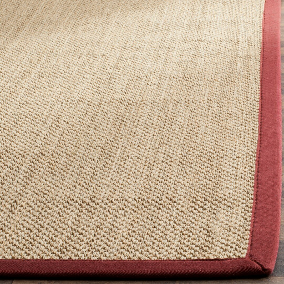 Breakwater Bay Hillsborough Beige Burgundy Area Rug