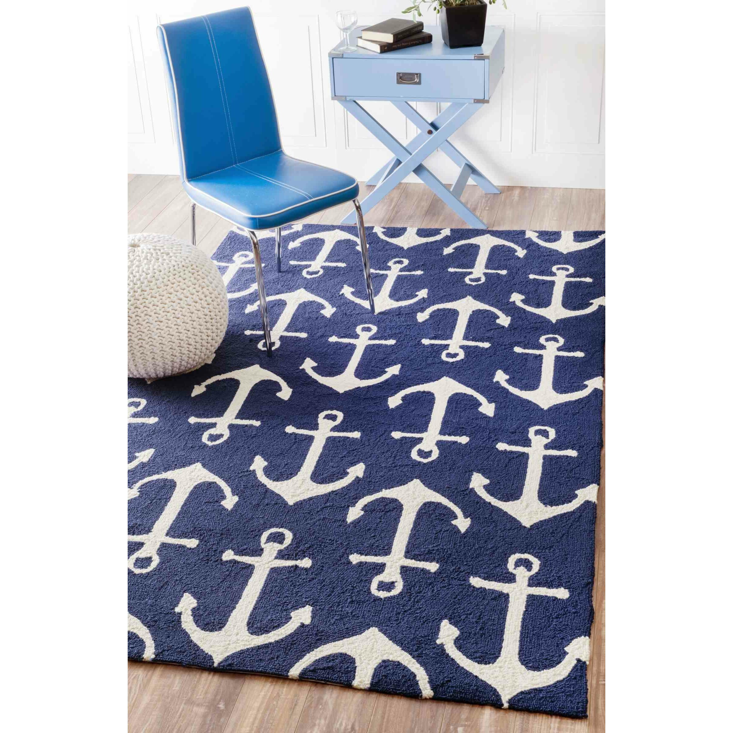 Breakwater Bay Powellsville Handmade Blue Indoor Outdoor