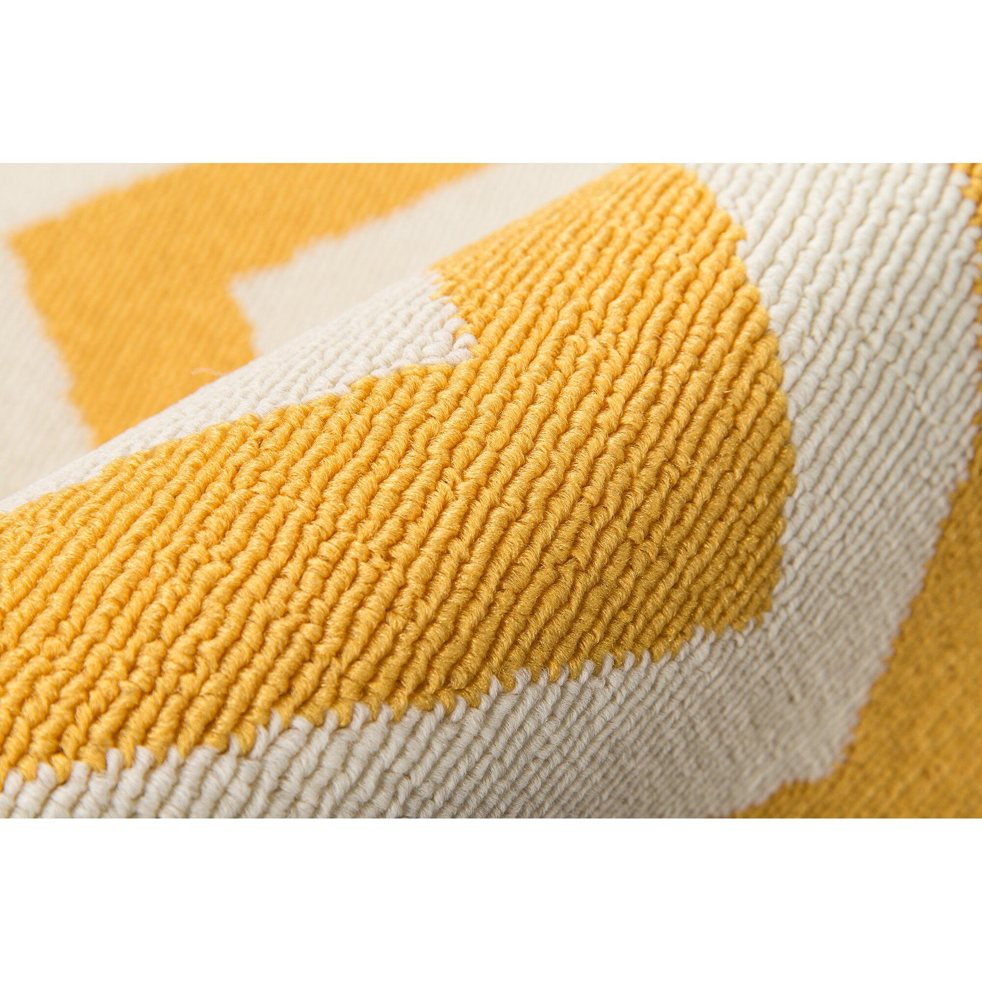 Breakwater Bay Norris Yellow White Indoor Outdoor Area Rug