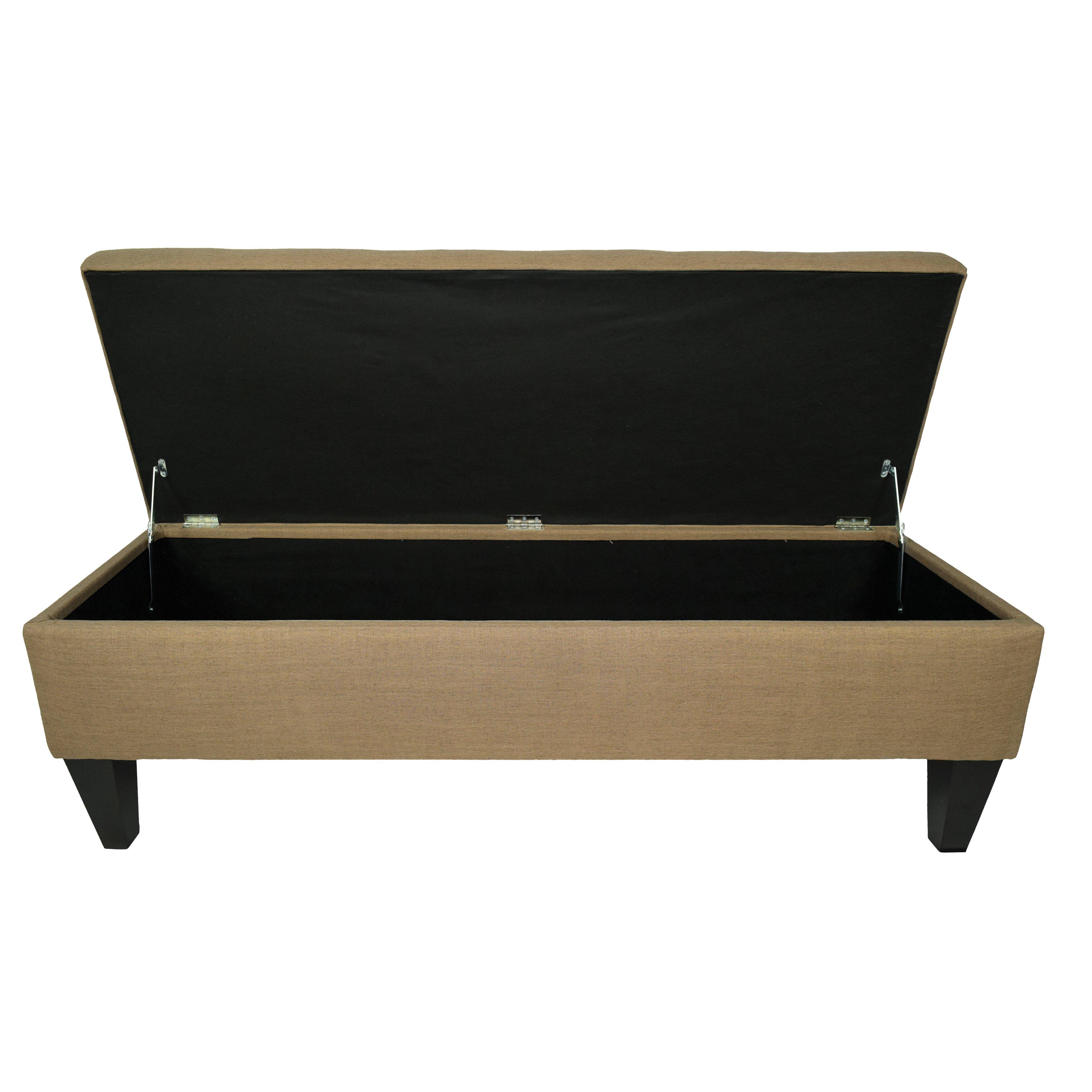 mjlfurniture allure wood storage bedroom bench wayfair