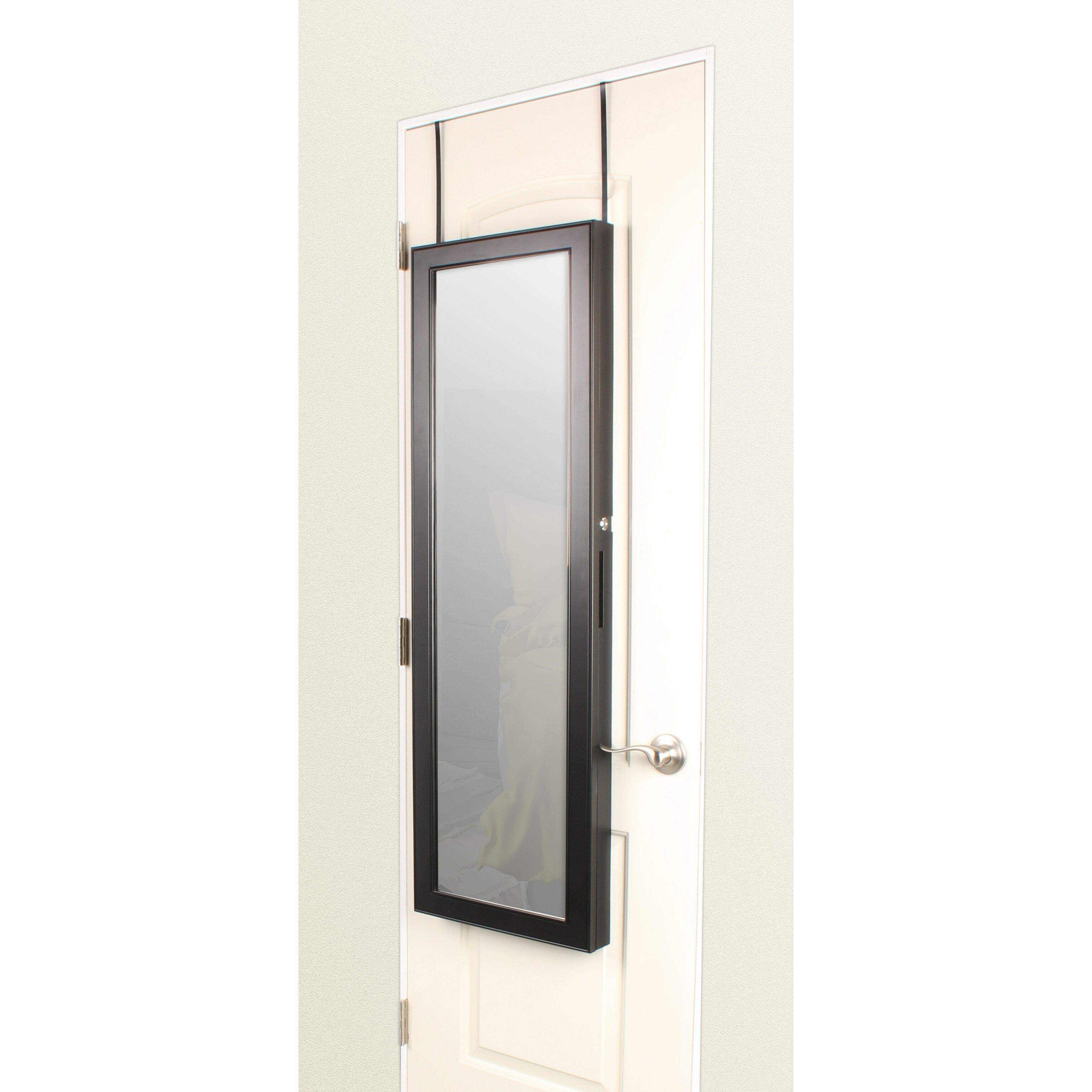 Uniek Storage Over The Door Jewelry Armoire With Mirror