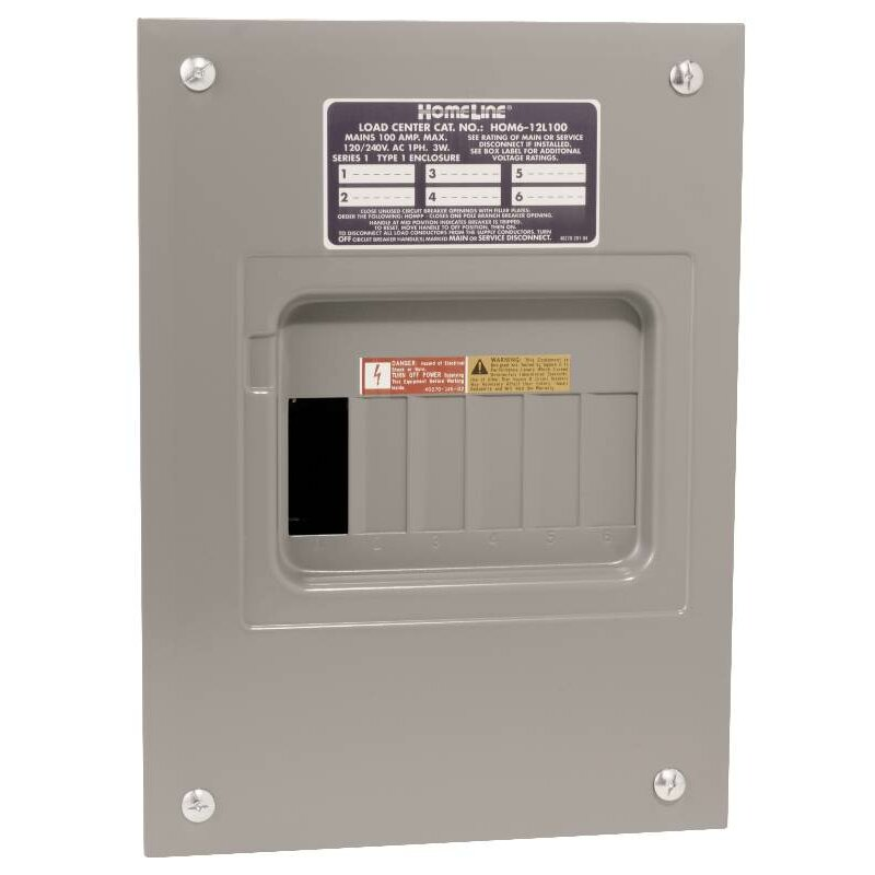 100 Amp Manual Transfer Switch with Main Indoor Lug Load Center by