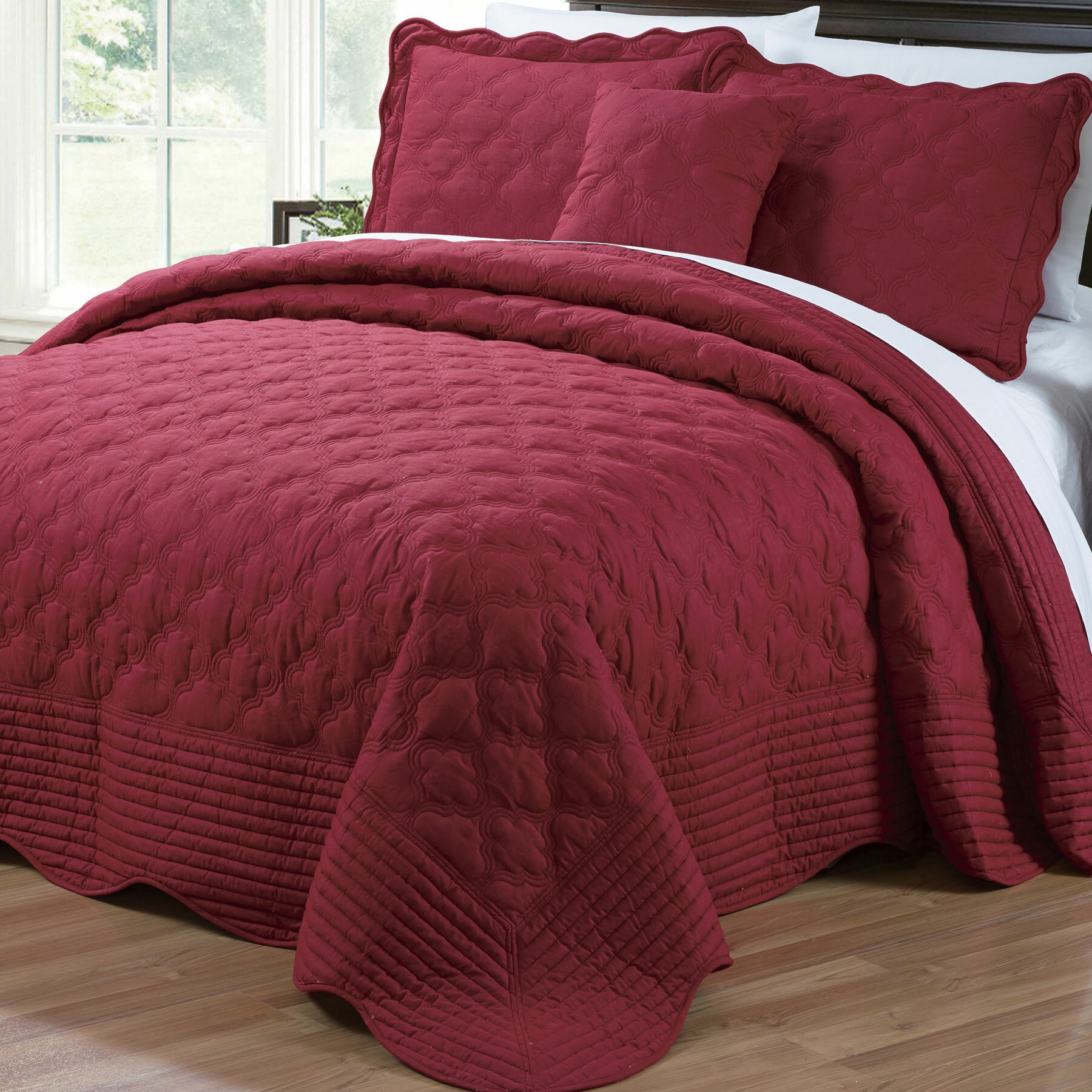 Serenta 4 Piece Quilted Cotton Coverlet Set Amp Reviews