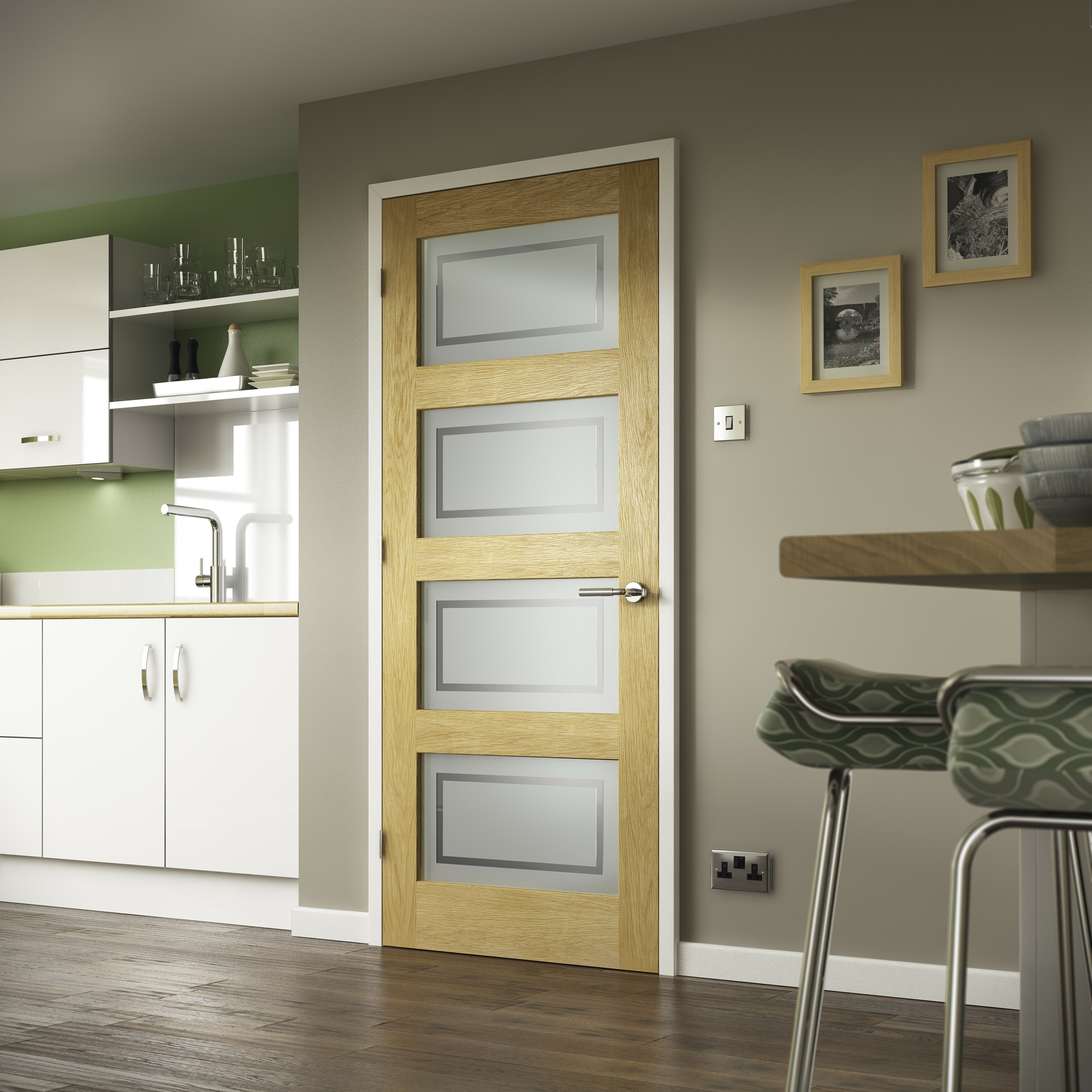 premdor shaker style oak glazed internal door reviews. Black Bedroom Furniture Sets. Home Design Ideas