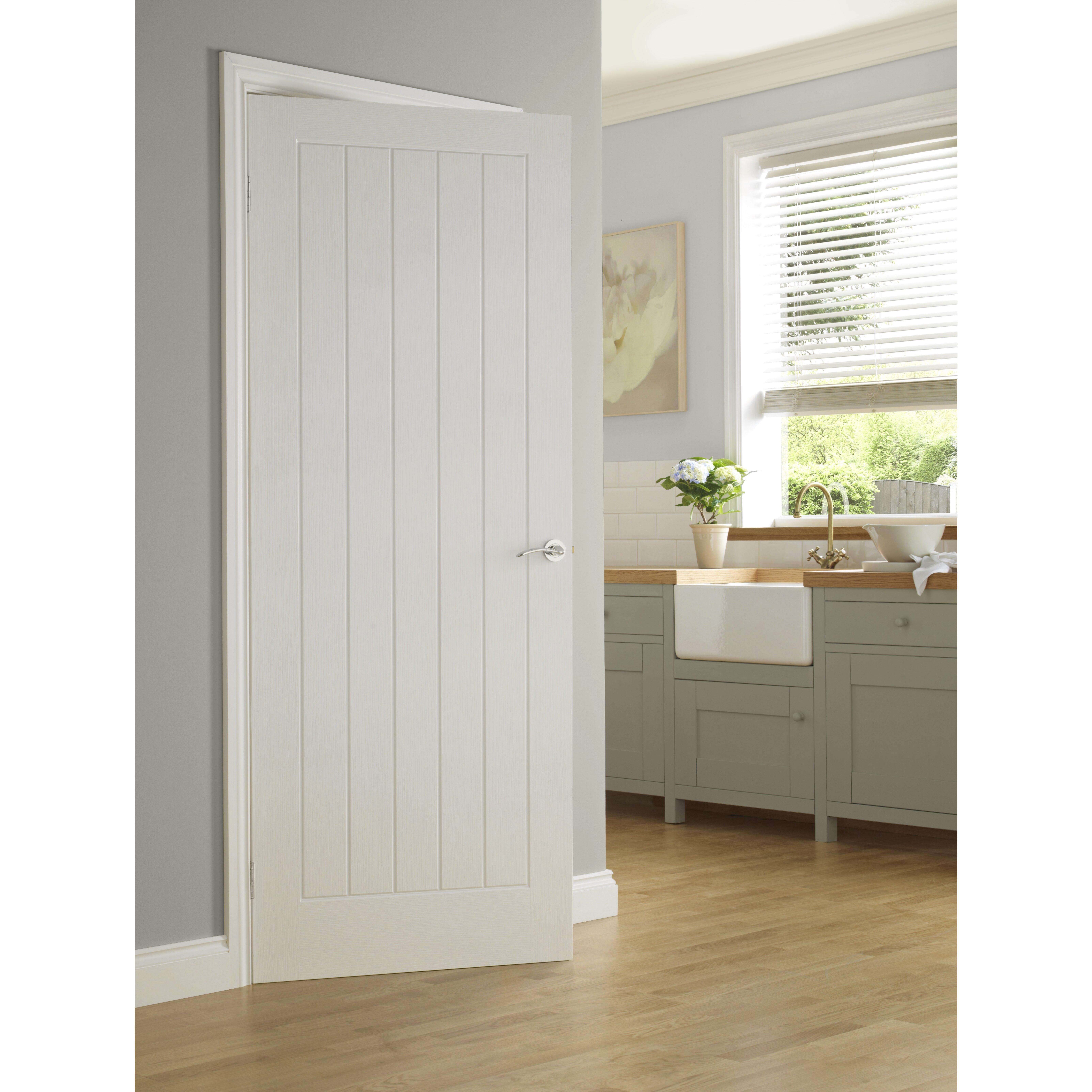 Premdor 5 panel white internal door reviews wayfair uk for Internal door ideas uk