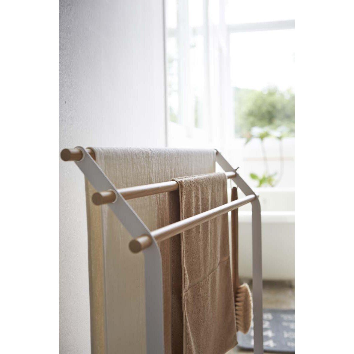 yamazaki usa tosca freestanding bath towel stand wayfair ca