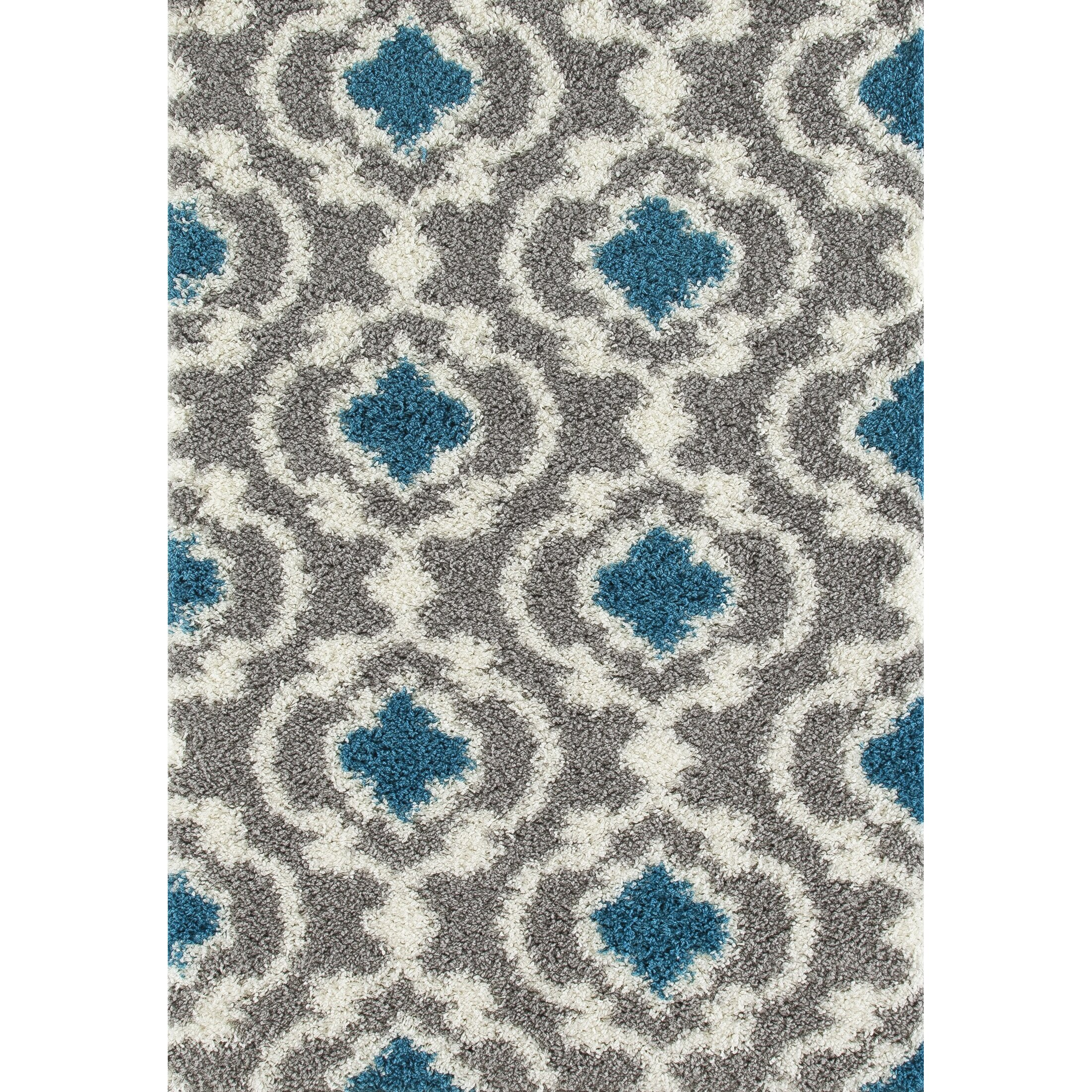 World Rug Gallery Florida Gray Turquoise Area Rug