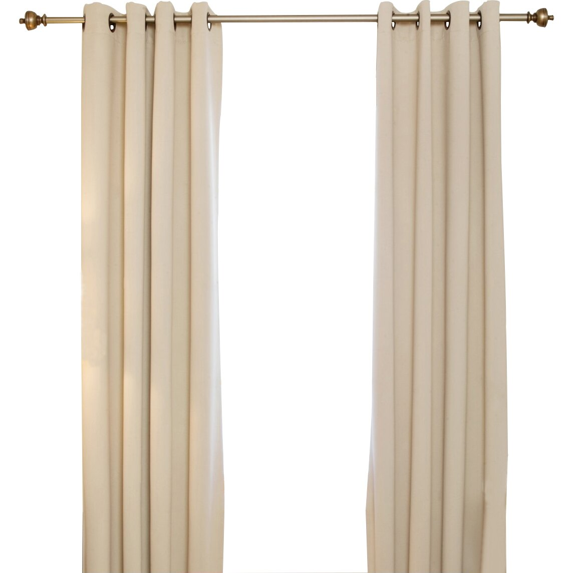 Blackout Curtain Blackout Antique Brass Grommet Top Curtain Panel Amp Reviews Wayfair