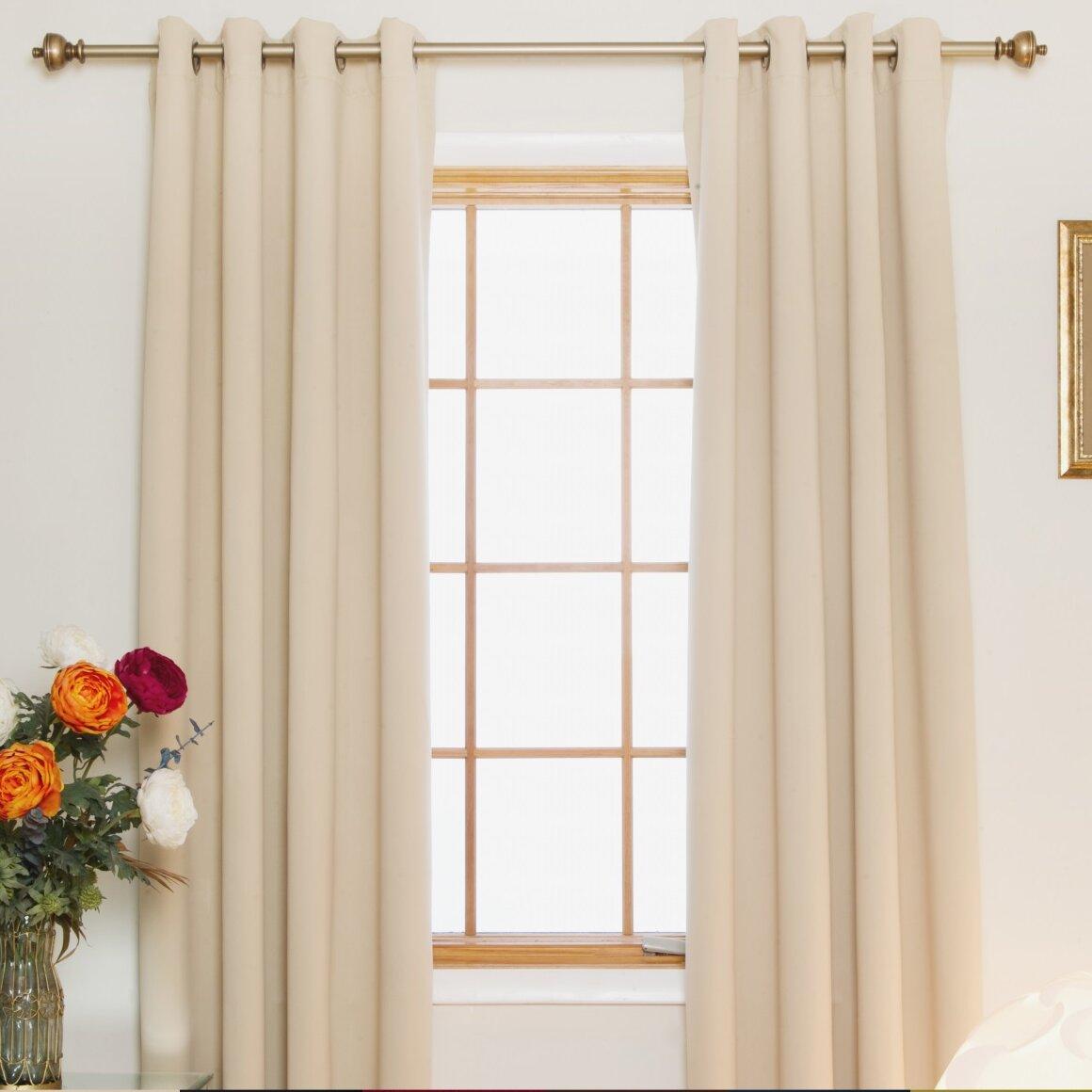 Blackout Curtain Room Darkening Nickel Grommet Top Thermal