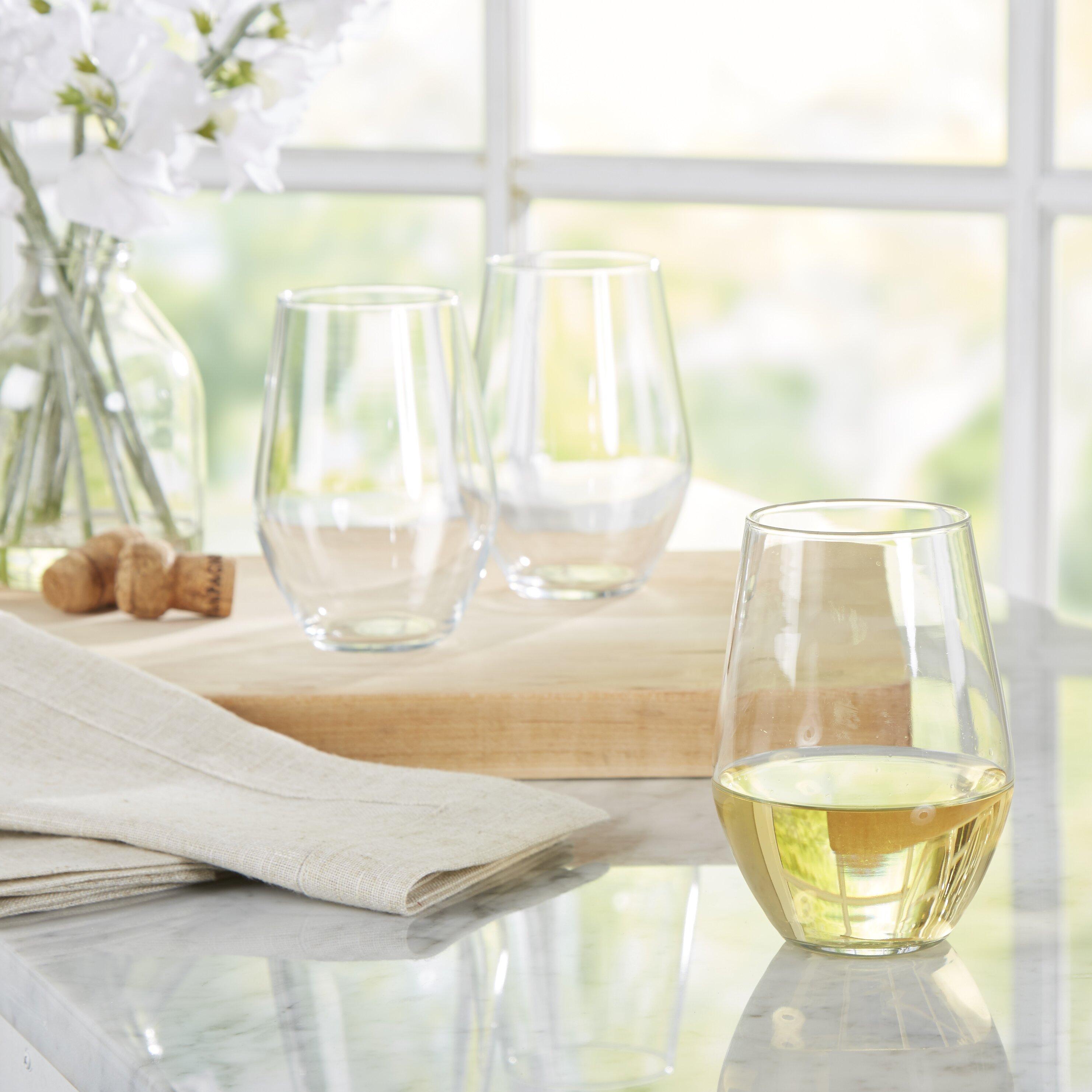 luminarc concerto btd 19 oz stemless wine glass reviews wayfair. Black Bedroom Furniture Sets. Home Design Ideas