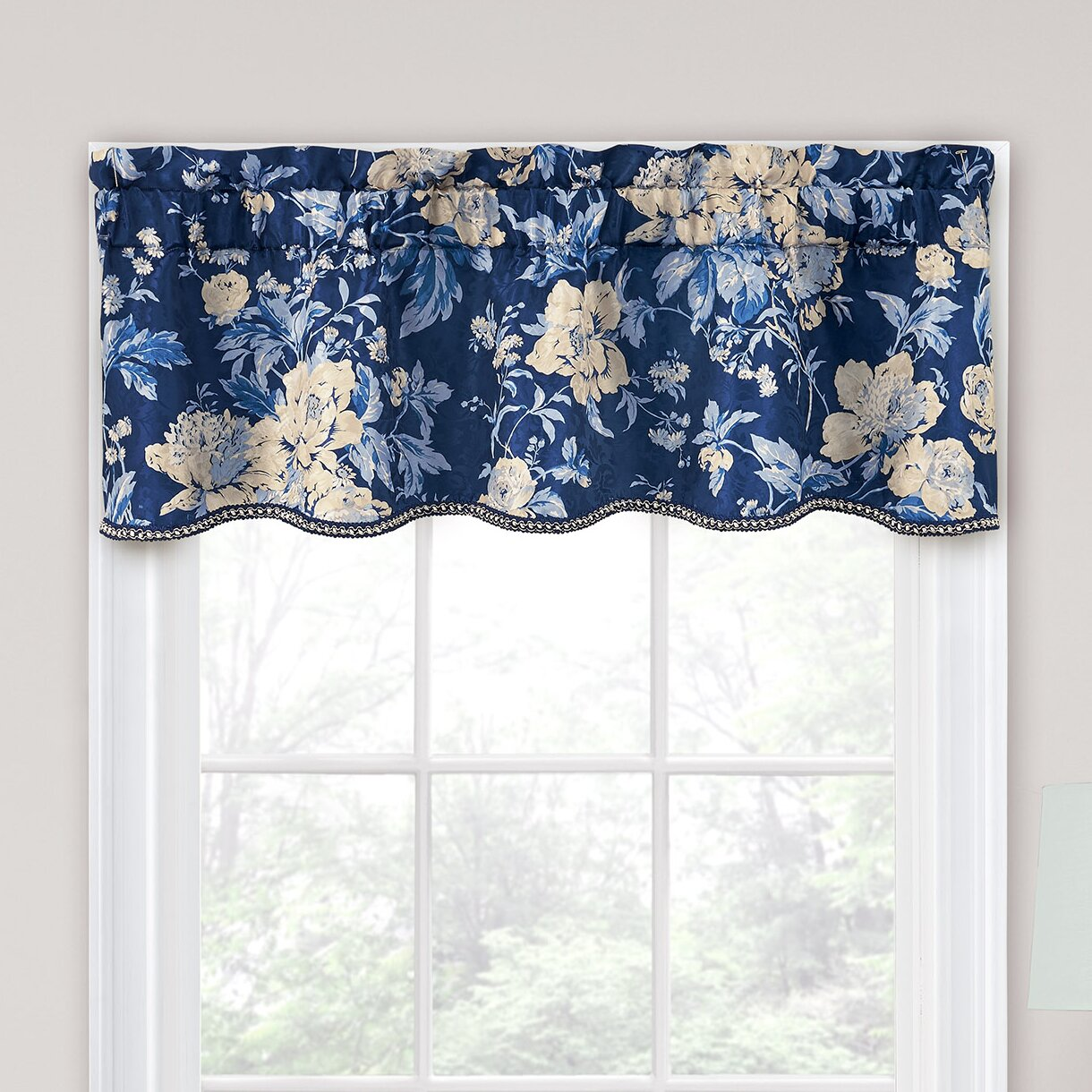 "Traditions By Waverly Forever Yours Floral 52"" Curtain"