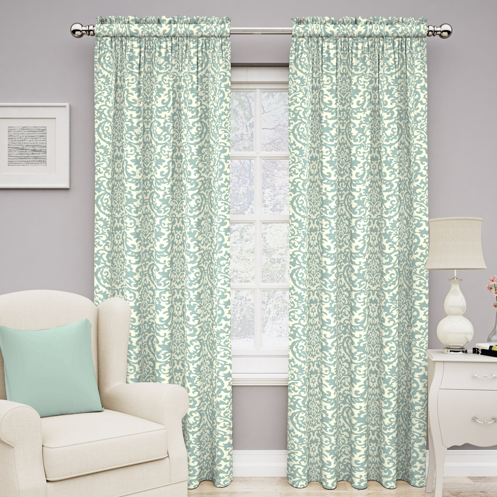 Traditions By Waverly Duncan Single Curtain Panel