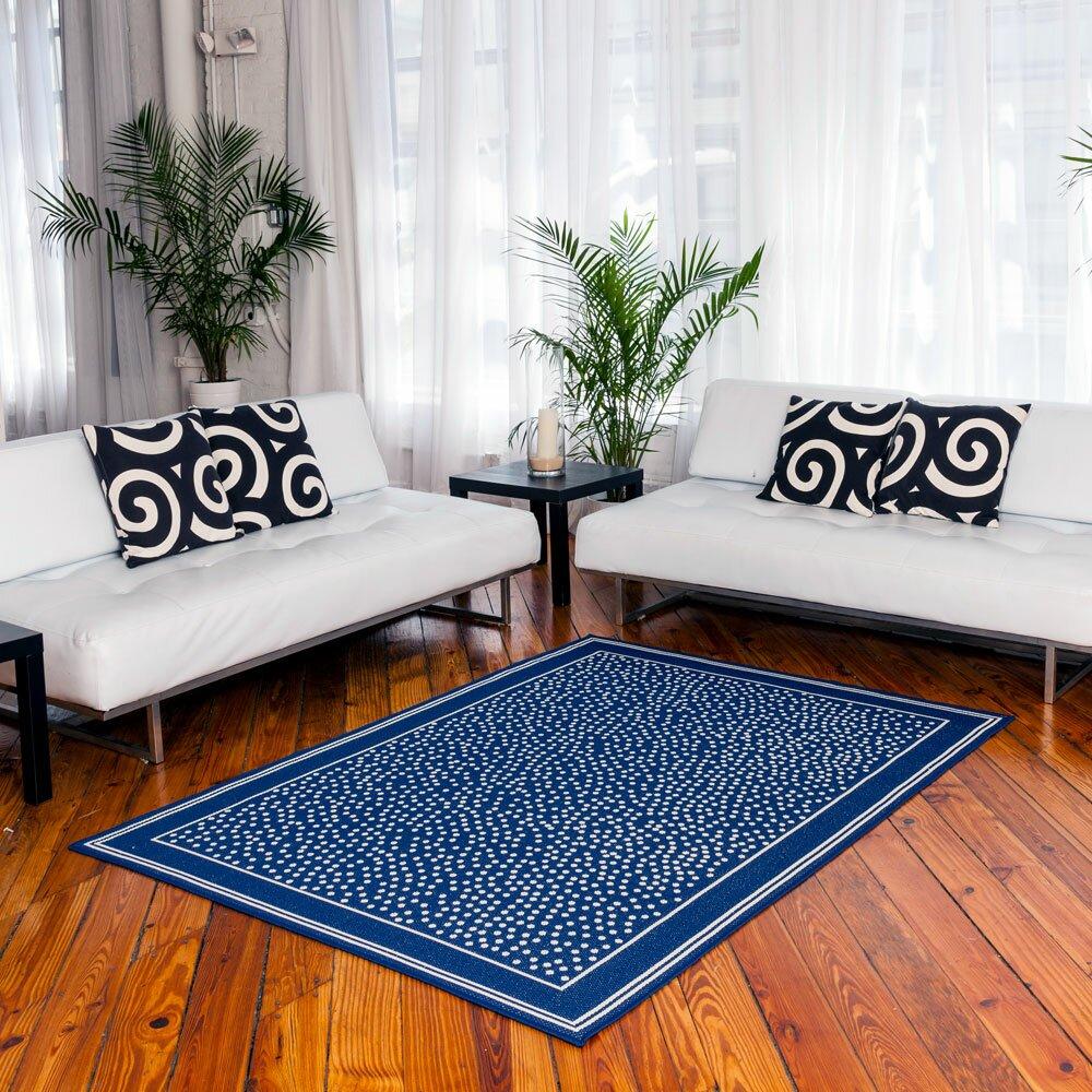 Budgeindustries twilight royal blue indoor outdoor area for Blue indoor outdoor rug