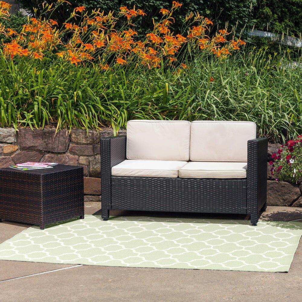 budgeindustries winchester sage green indoor outdoor area rug wayfair. Black Bedroom Furniture Sets. Home Design Ideas