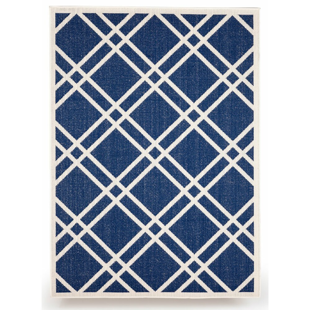 Budgeindustries maverick royal blue indoor outdoor area for Blue indoor outdoor rug