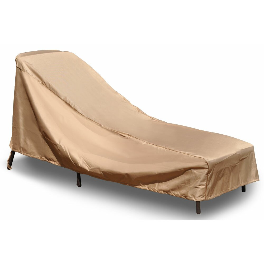 Budgeindustries chelsea outdoor chaise lounge cover wayfair for Chaise lounge cover