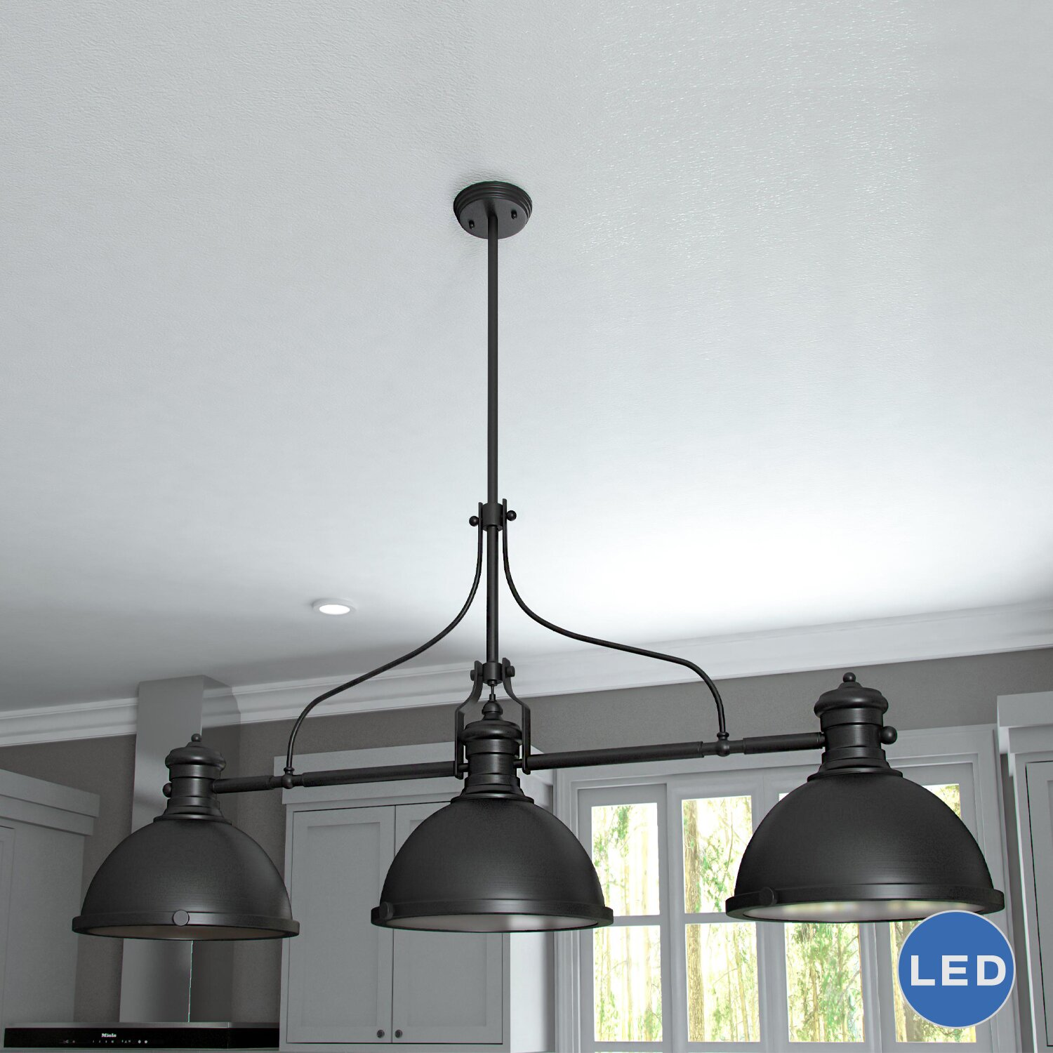 3 light pendant island kitchen lighting vonnlighting dorado 3 light kitchen island pendant 8979