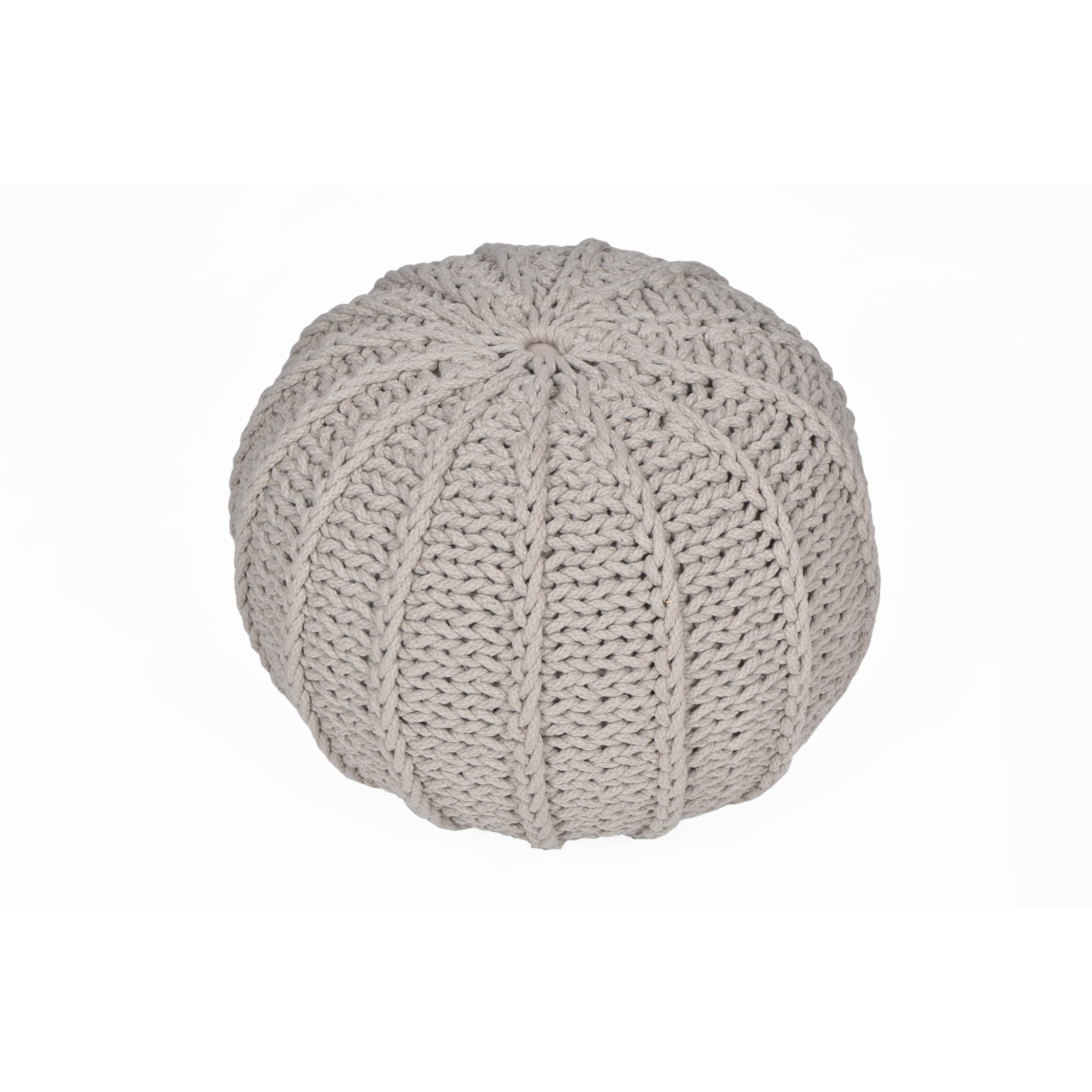 Knitting Pattern For Round Pouf : VCNY Cable Knitted Round Pouf & Reviews Wayfair