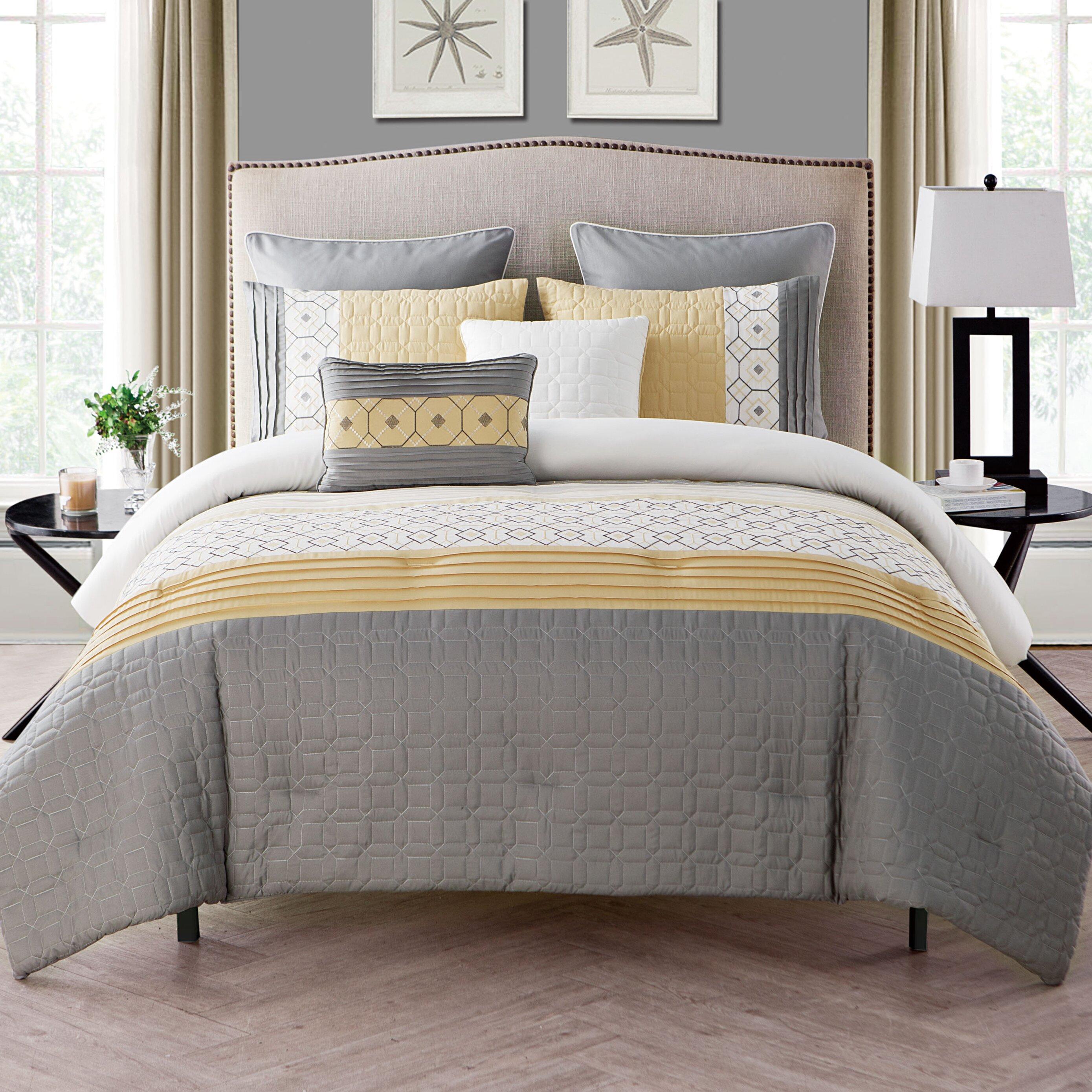 vcny winston 7 piece comforter set reviews wayfair. Black Bedroom Furniture Sets. Home Design Ideas