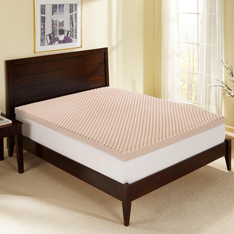 """Sleep Innovations 3"""" Sculpted Memory Foam Mattress Topper ..."""