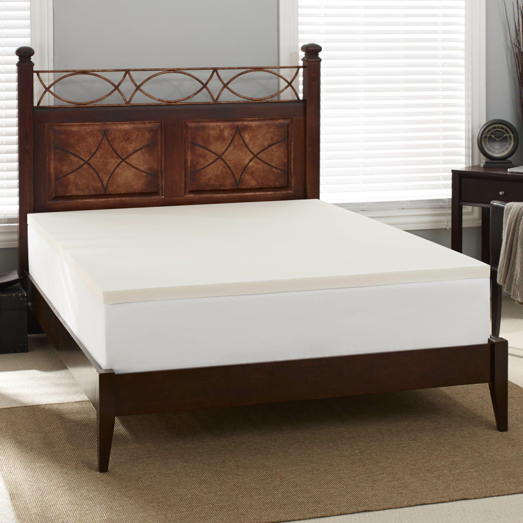 Sleep Innovations 2 Quot Memory Foam Mattress Topper Wayfair