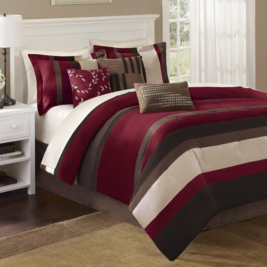 Madison Park Boulder Stripe 7 Piece Comforter Set