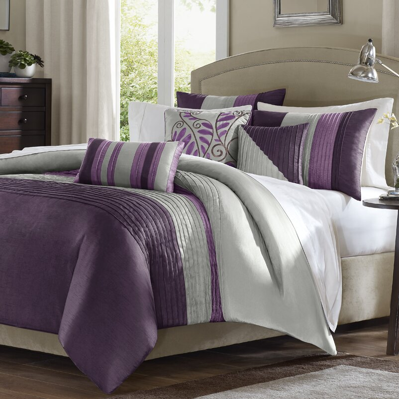 Madison Park Amherst 6 Piece Reversible Duvet Cover Set