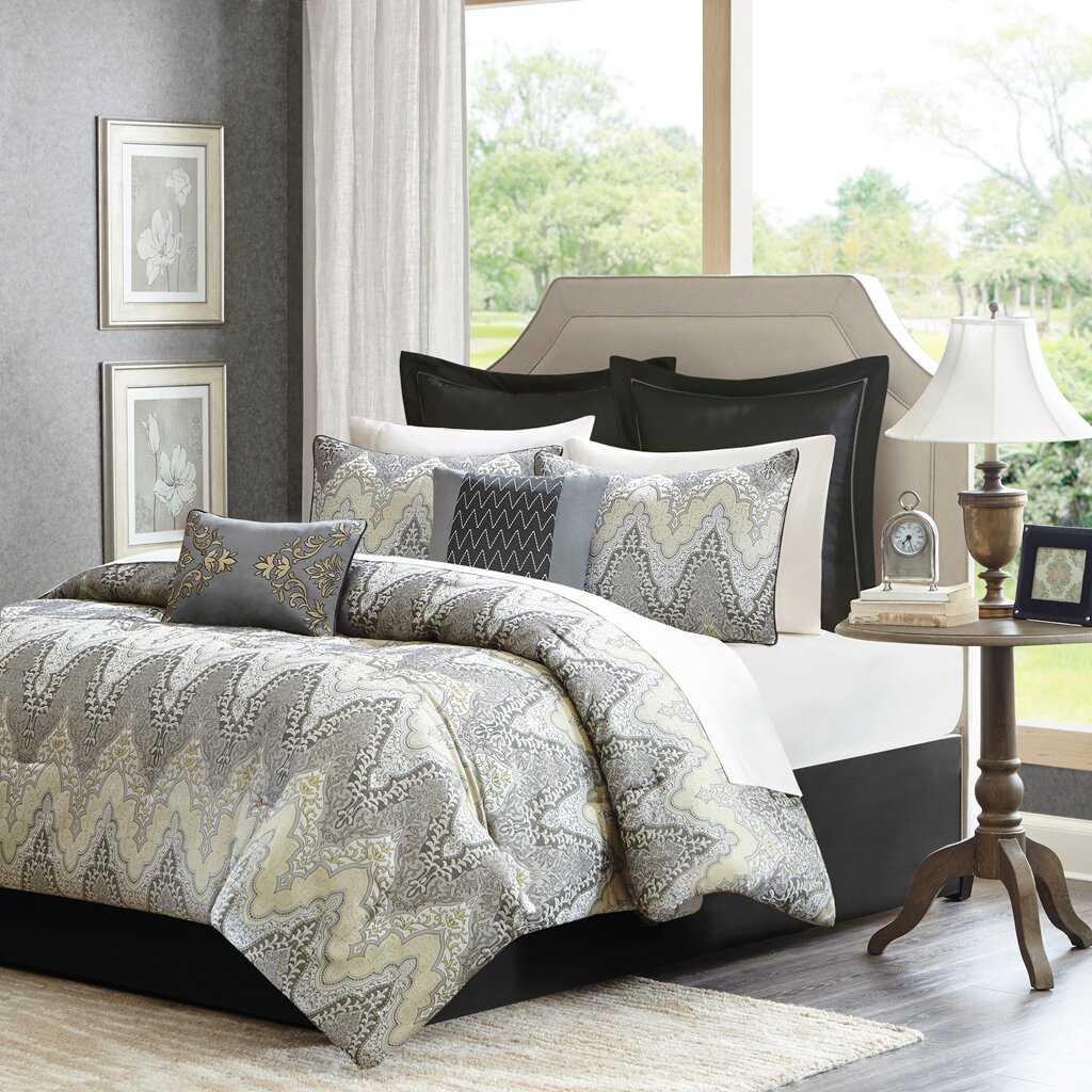 madison park paxton 12 piece comforter set  reviews  wayfair