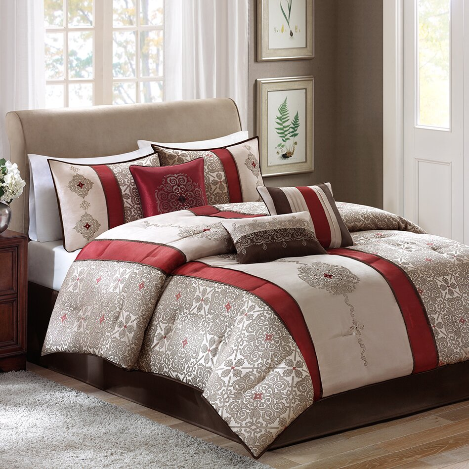 madison park donovan 7 piece comforter set reviews wayfair. Black Bedroom Furniture Sets. Home Design Ideas