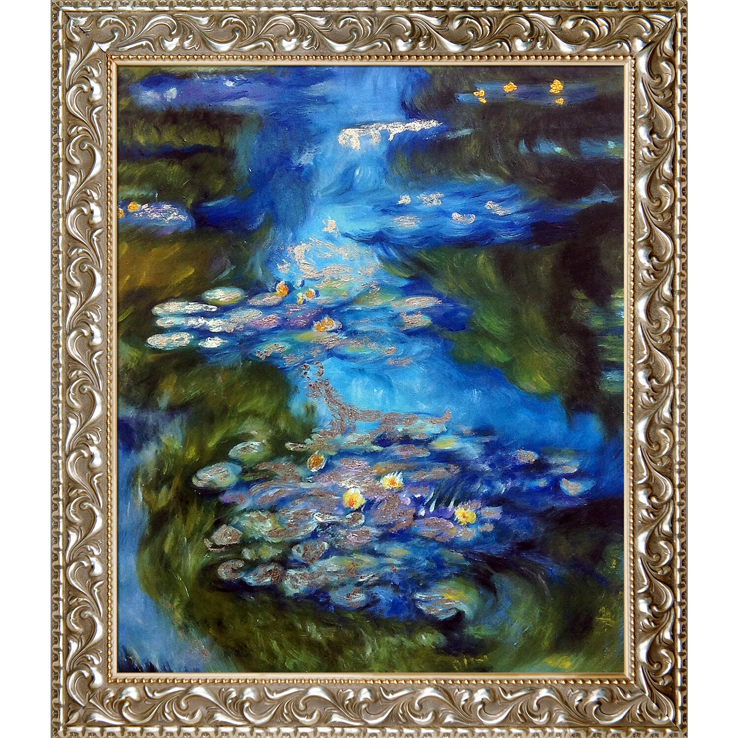 La Pastiche Water Lilies By Claude Monet Framed Painting