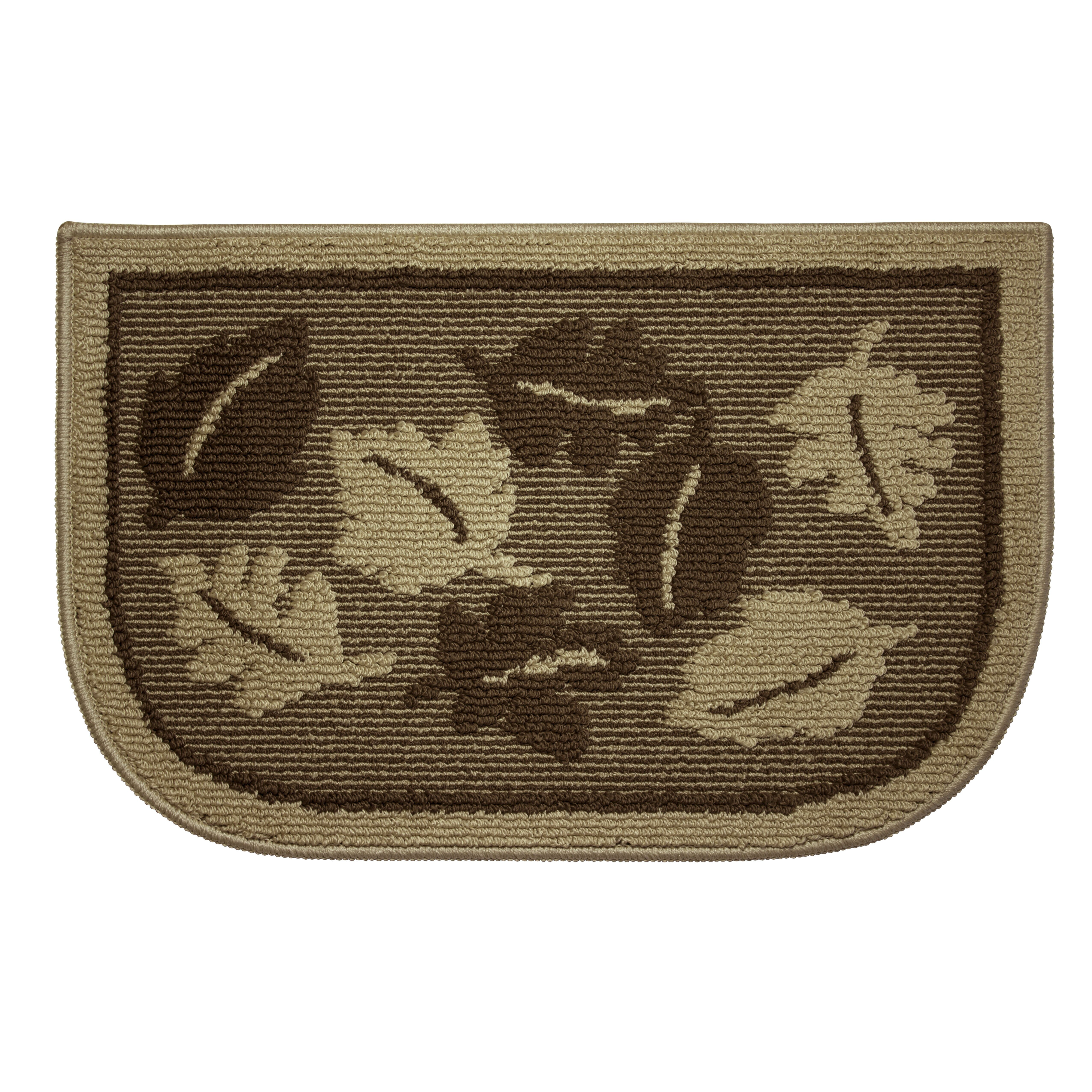 Structures Textured Loop Livingston Leaves Wedge Slice Kitchen Area Rug