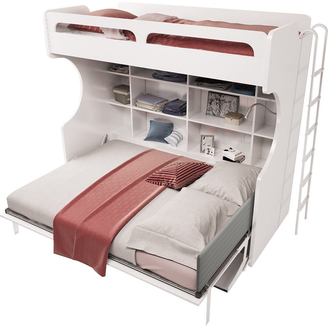 Multimo Multimo Twin Over Full Murphy Bed & Reviews