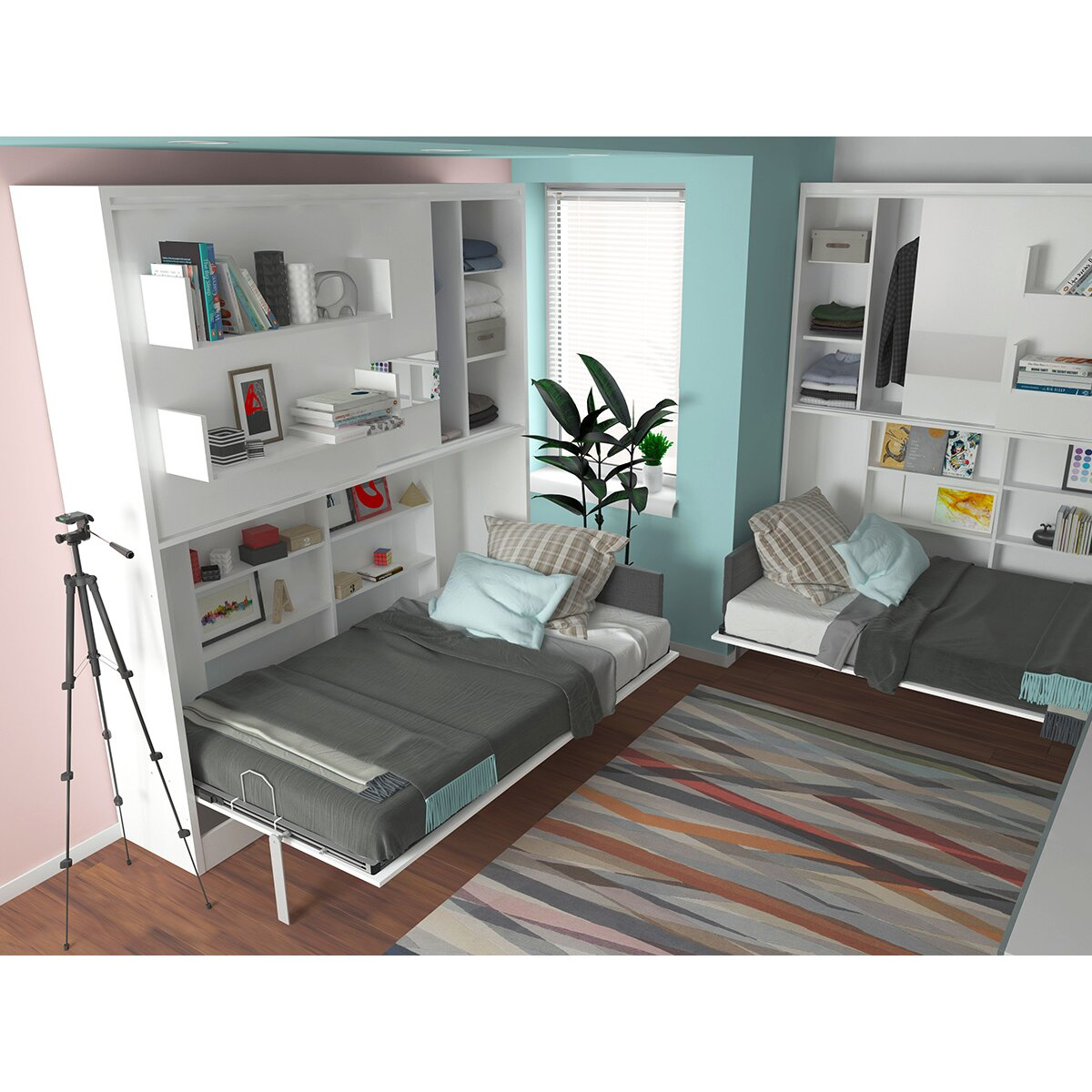 Multimo Parete Letto Wall Twin Murphy Bed Wayfair