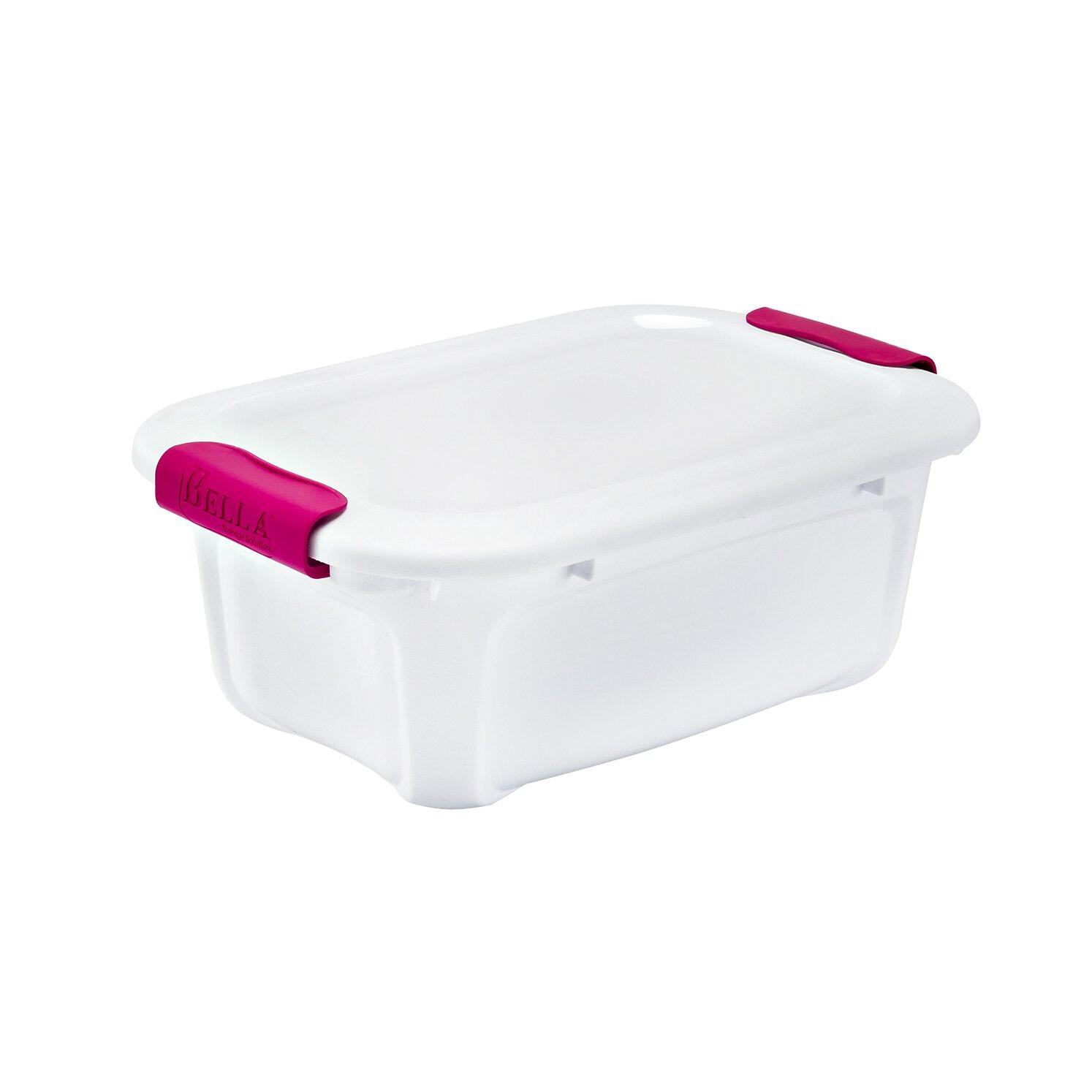 Bella Storage Solution 5 4 Qt Locking Lid Dry Erase