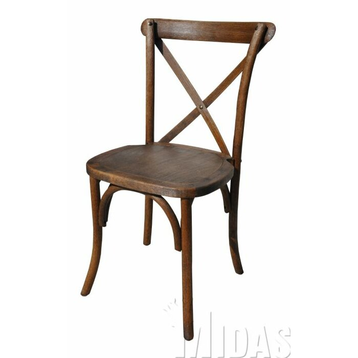 Midas Event Supply Forest Cross Back Weathered Style Chair