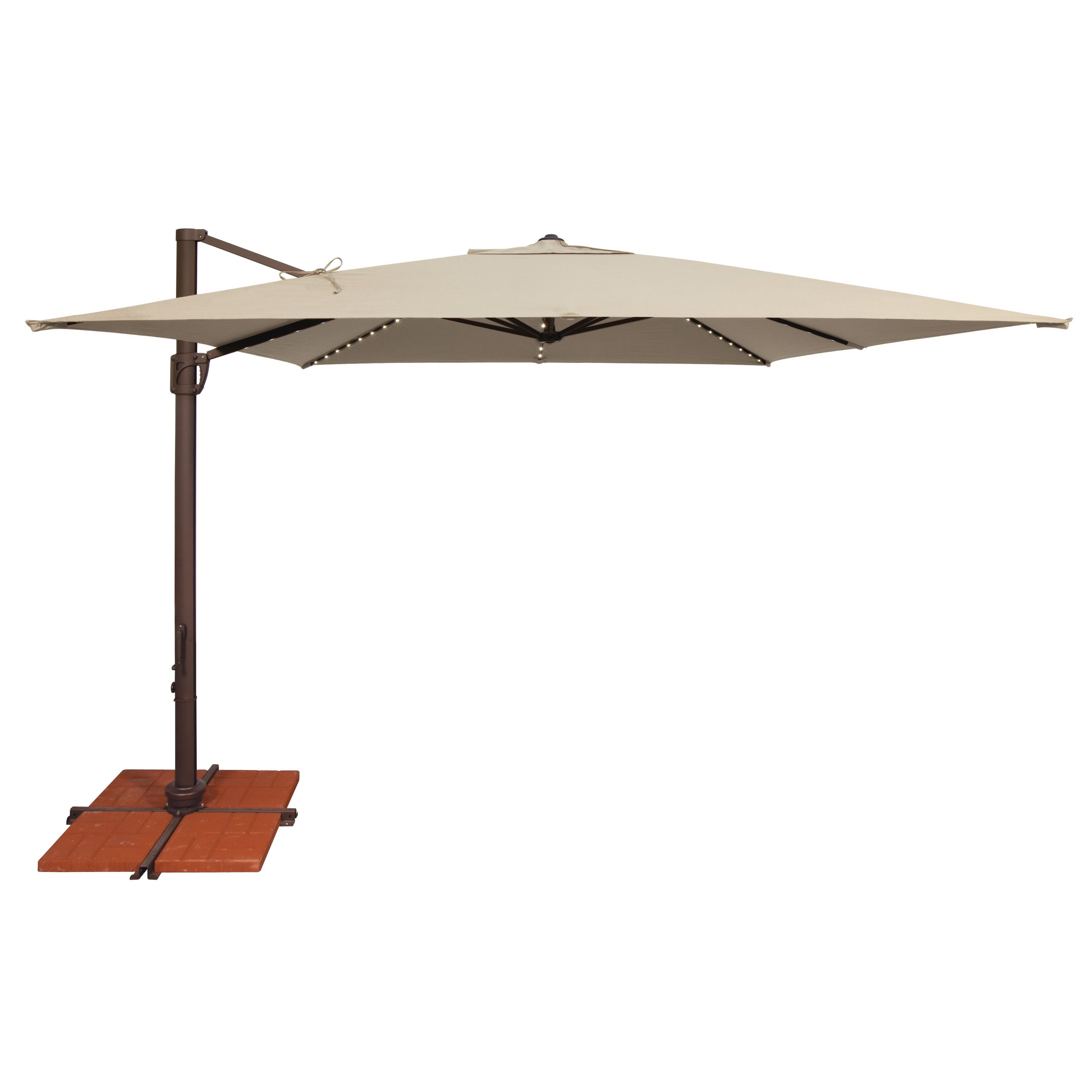 Simply Shade Offset Patio Umbrella Hton Bay 11 Ft Offset